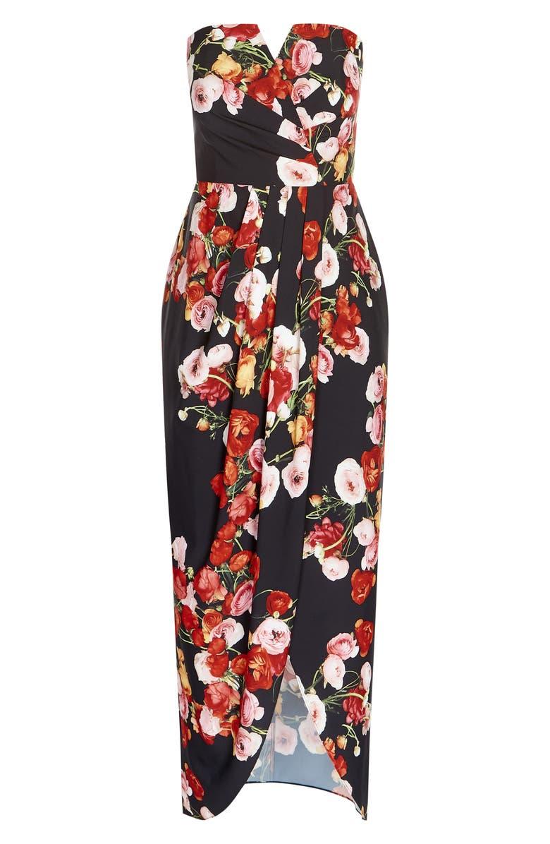 CITY CHIC Dresses VALENTINA STRAPLESS MAXI DRESS
