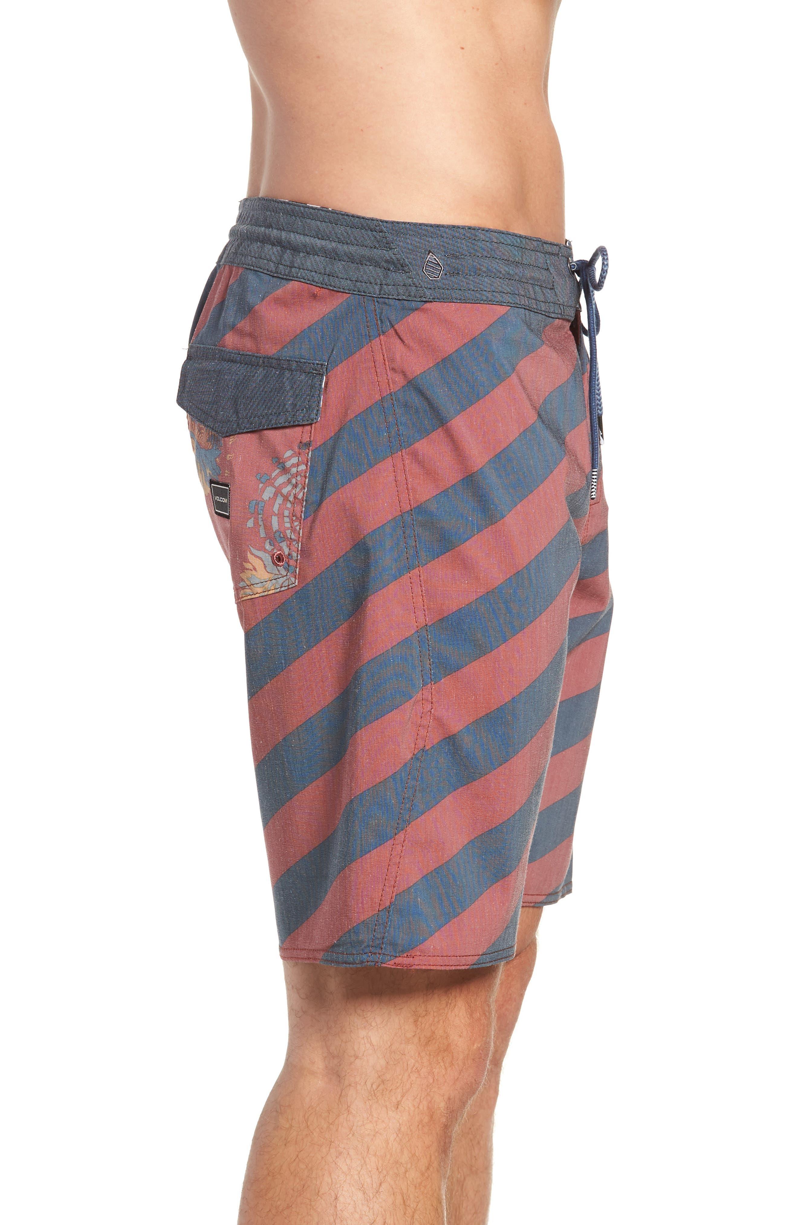 Stripey Stoney Boardshorts,                             Alternate thumbnail 4, color,                             RUST