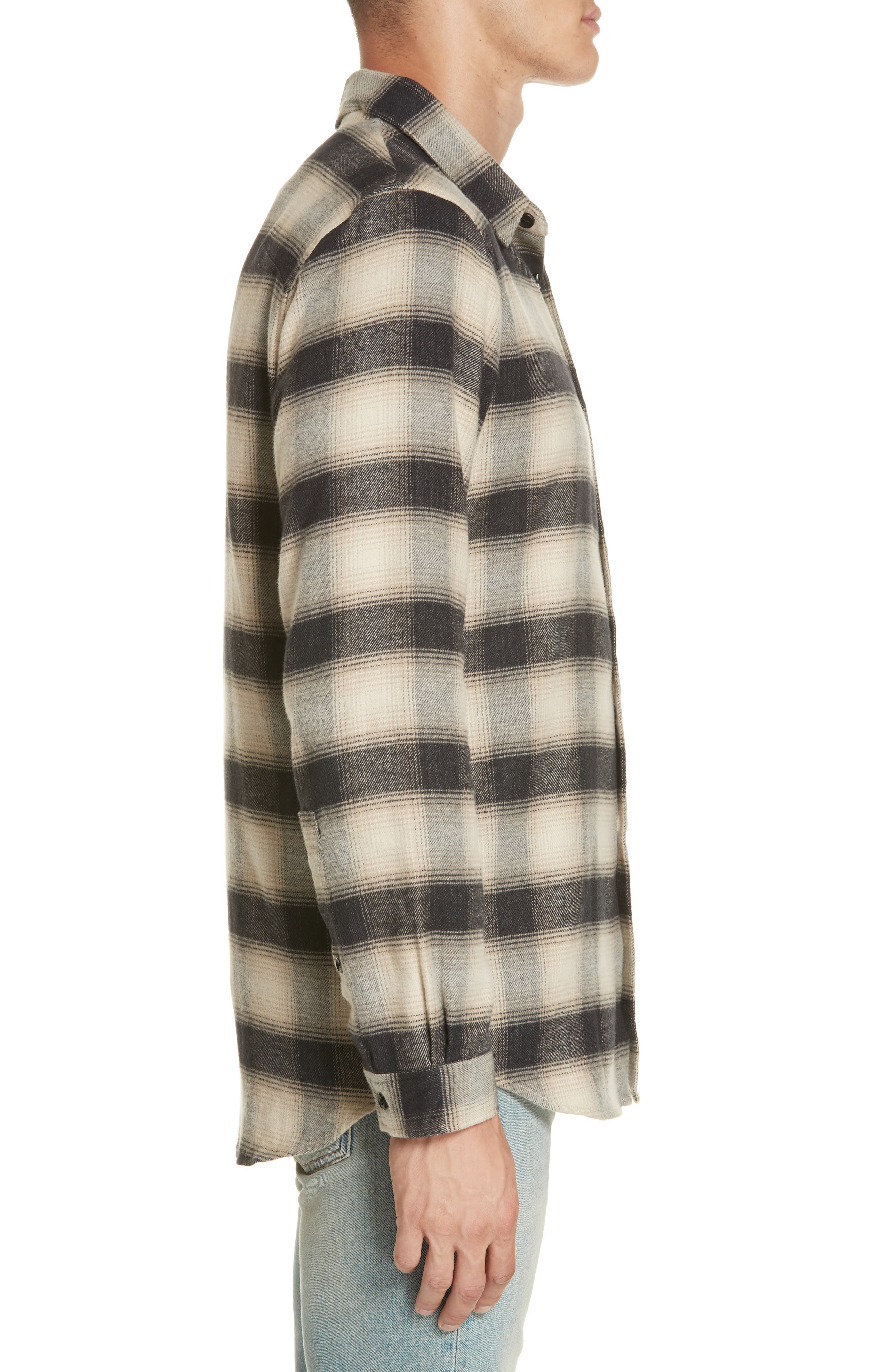 Brushed Flannel Shirt,                             Alternate thumbnail 4, color,                             101