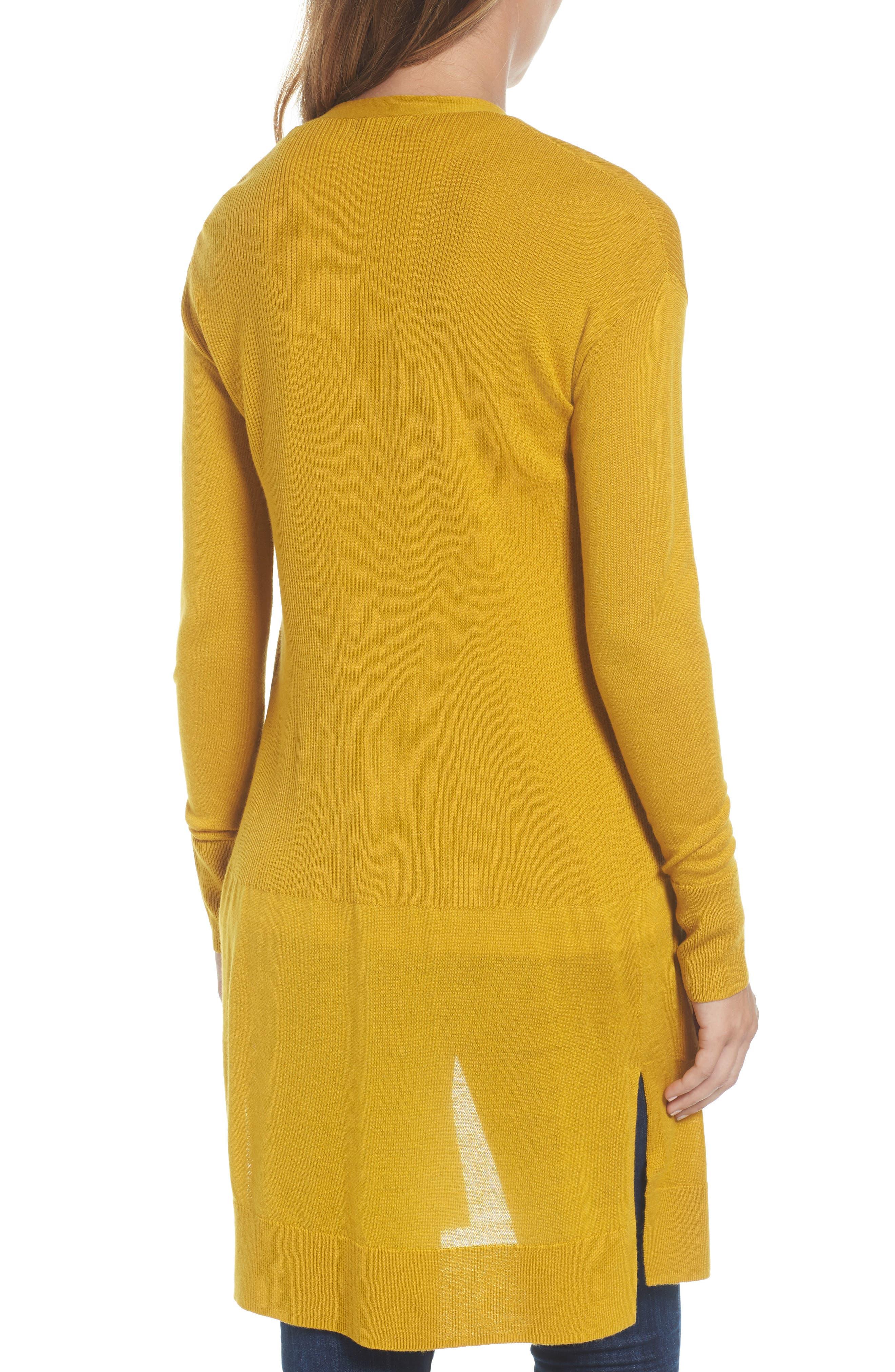 Rib Knit Wool Blend Cardigan,                             Alternate thumbnail 2, color,                             701
