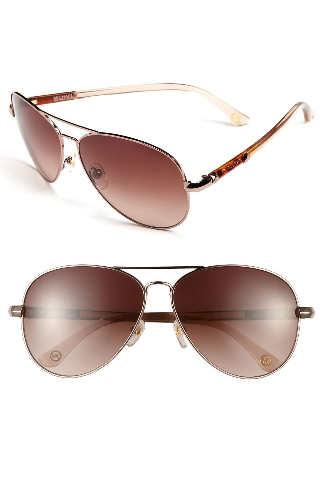 62mm Metal Aviator Sunglasses,                             Main thumbnail 4, color,