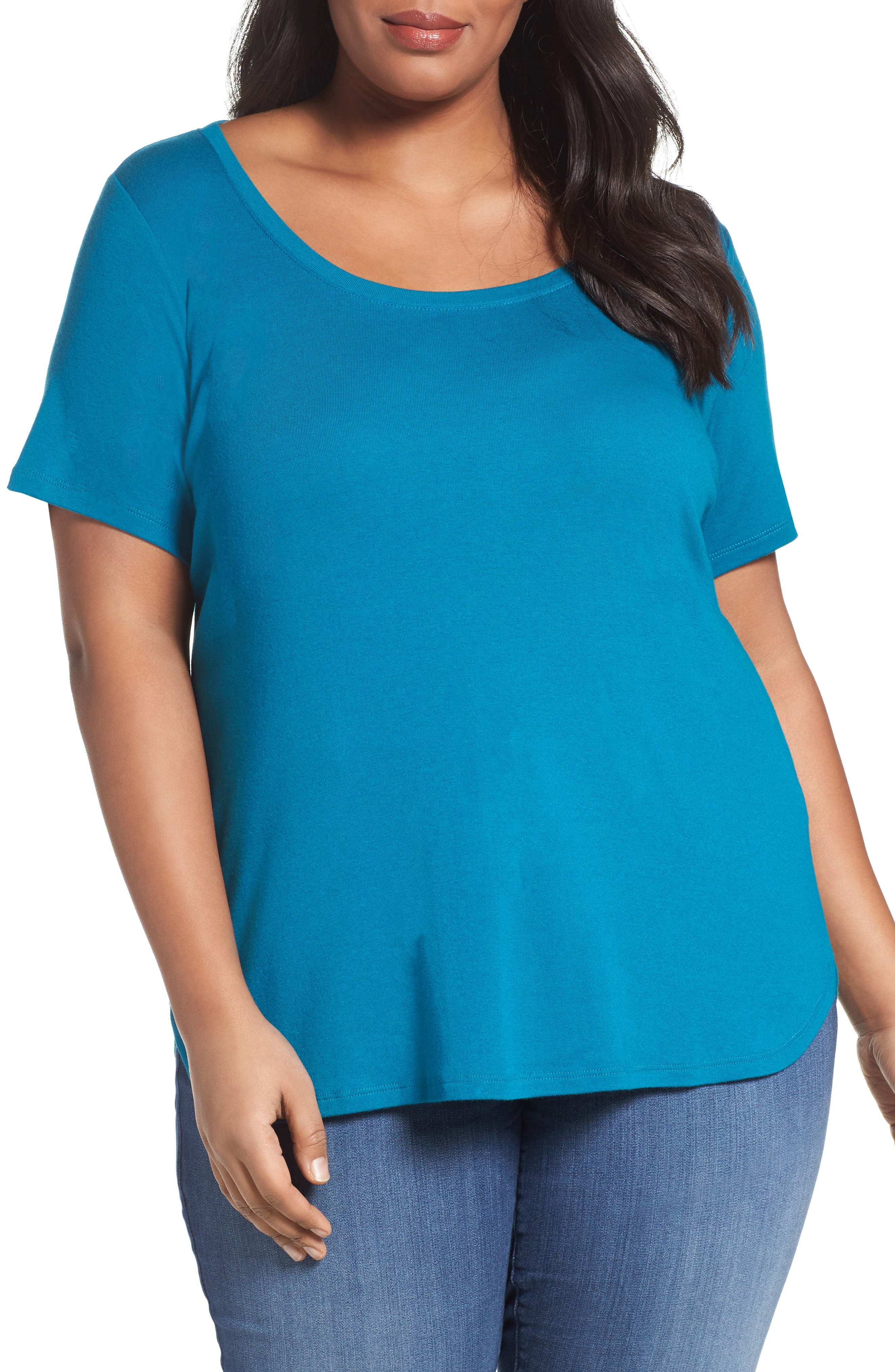 Scoop Neck Tee,                             Main thumbnail 8, color,