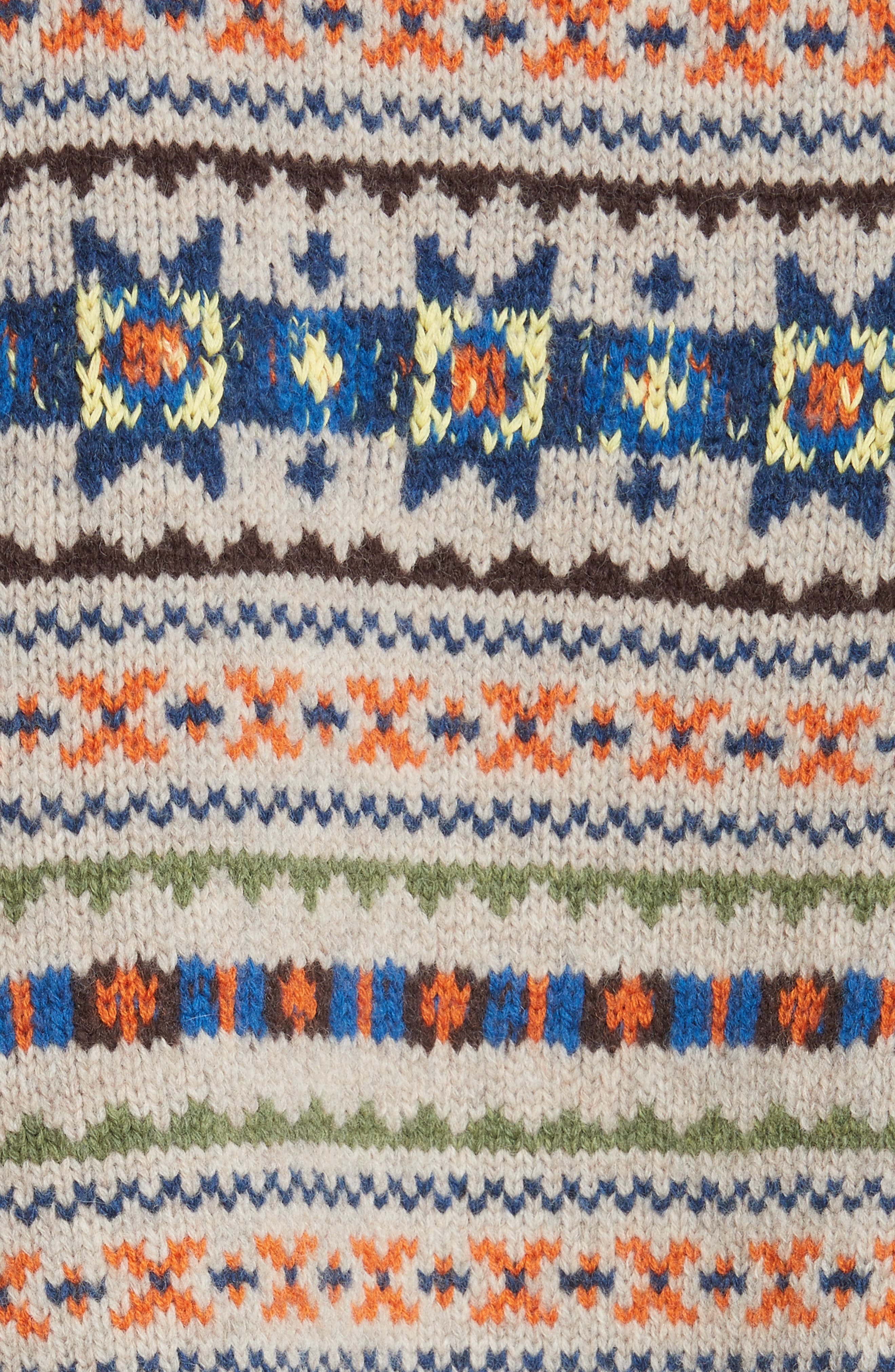 Double Layer Fair Isle Sweater,                             Alternate thumbnail 5, color,