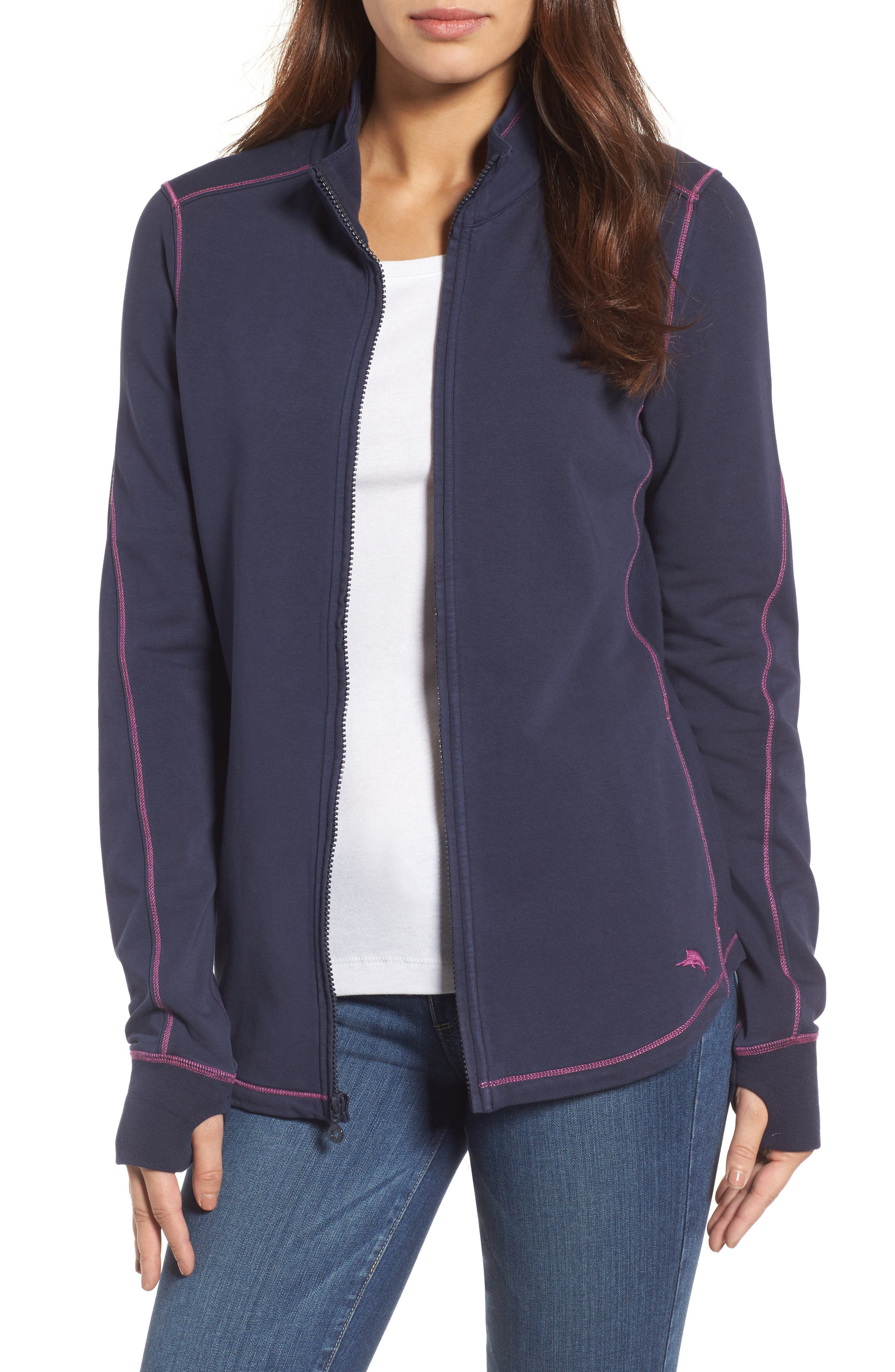 Tommy Bahama Jen And Terry Full Zip Top, Blue