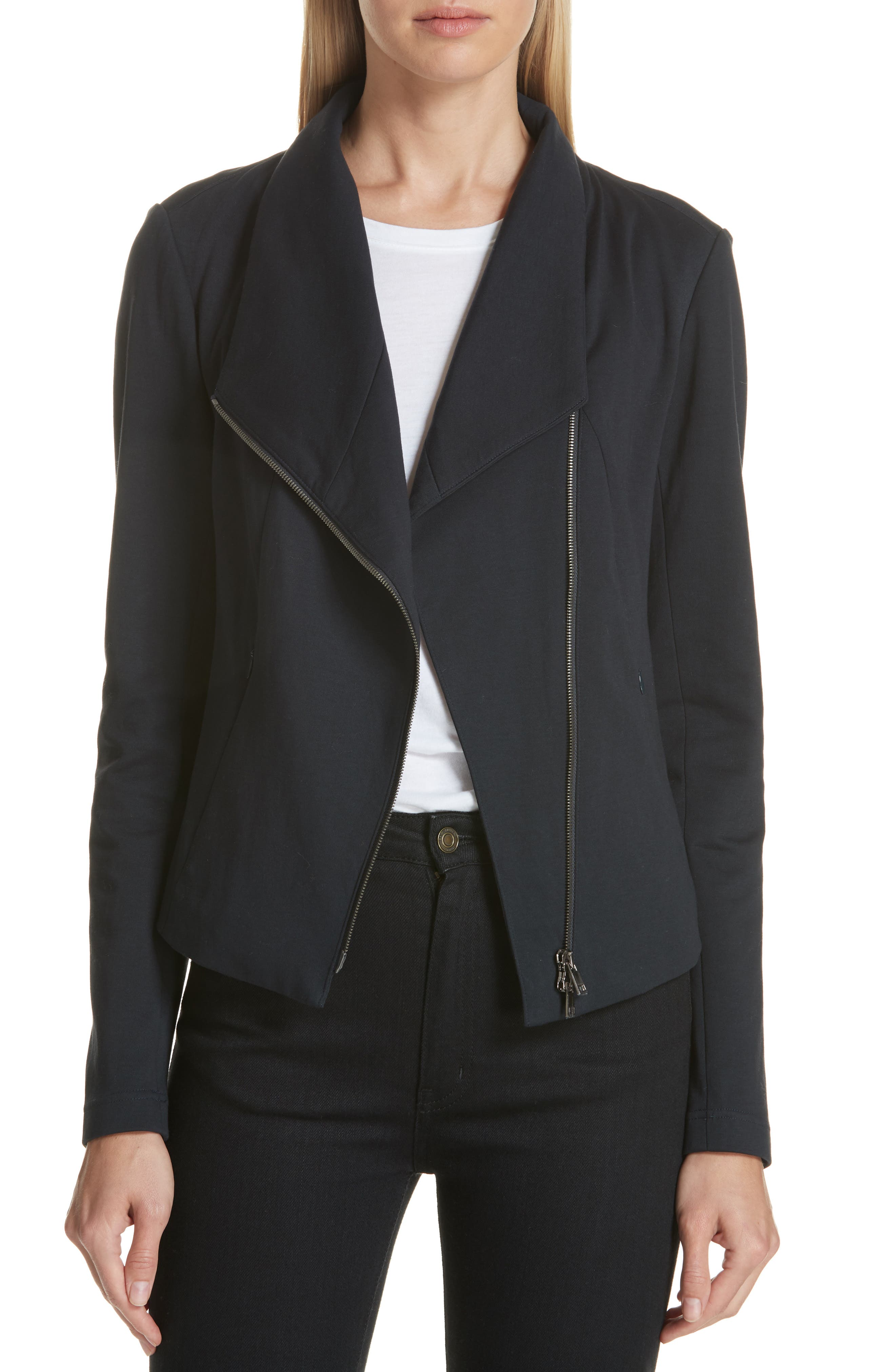High Collar Fitted Jacket, Main, color, 410