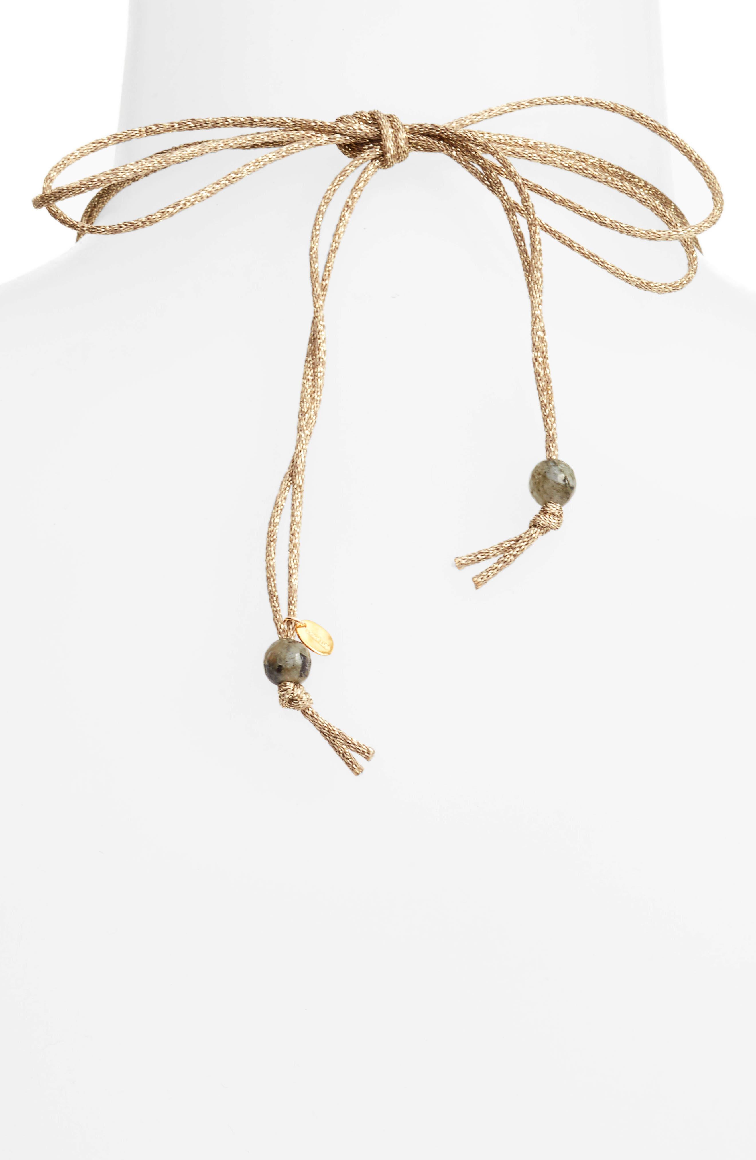Graduated Semiprecious Stone Necklace,                             Alternate thumbnail 3, color,                             020