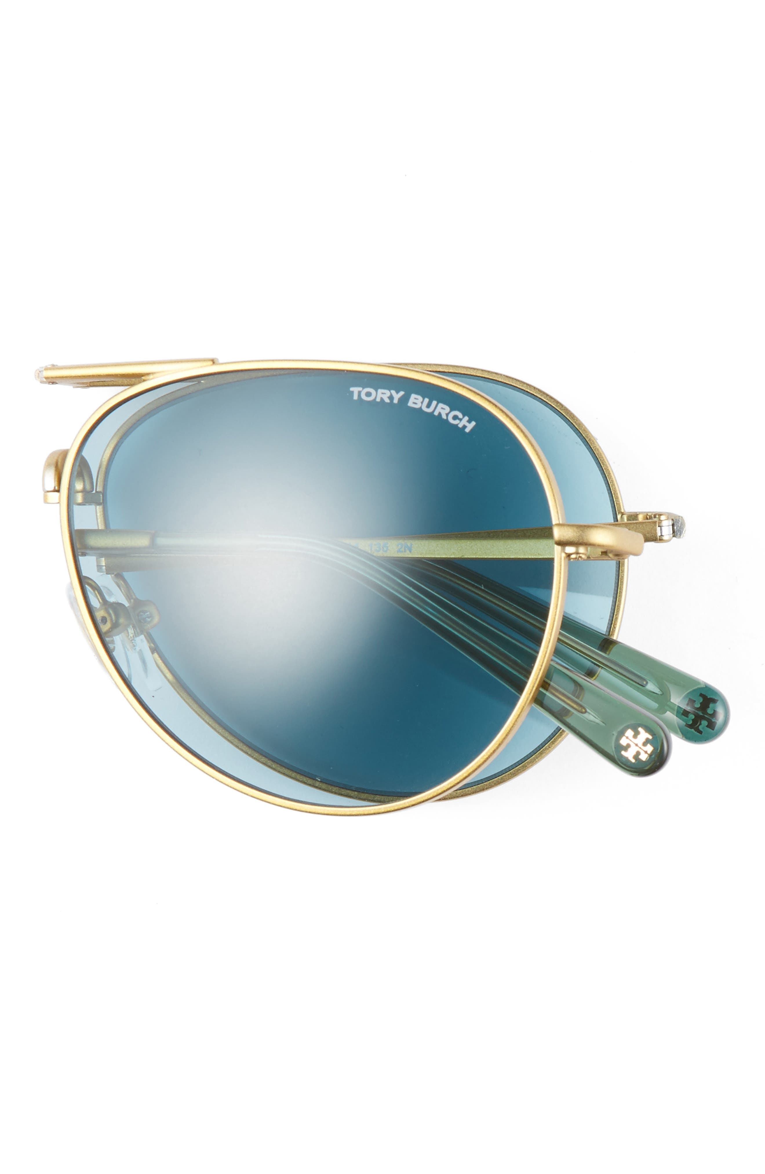 58mm Foldable Aviator Sunglasses,                             Alternate thumbnail 3, color,                             710