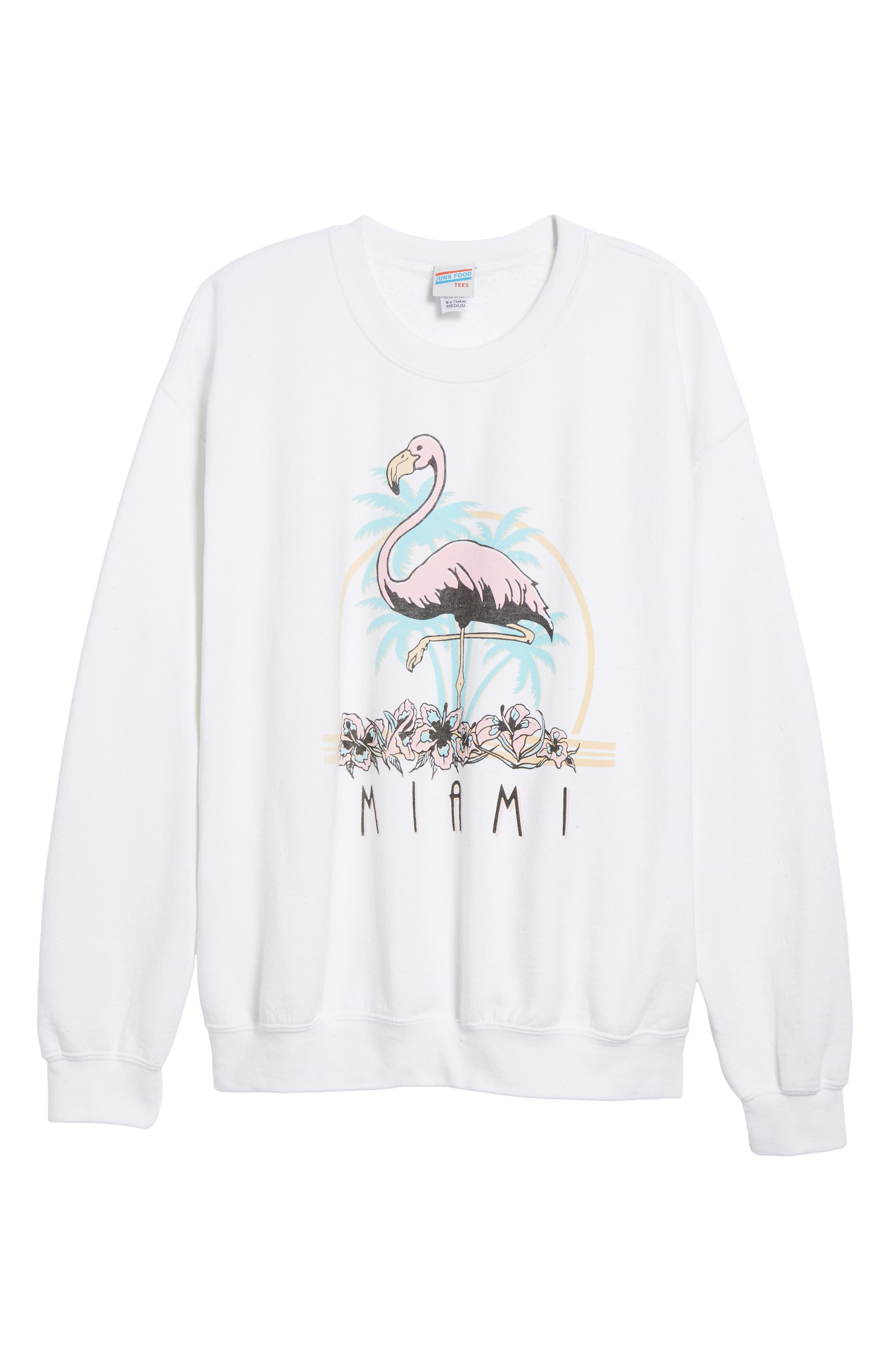 Miami Sweatshirt,                             Alternate thumbnail 6, color,                             100