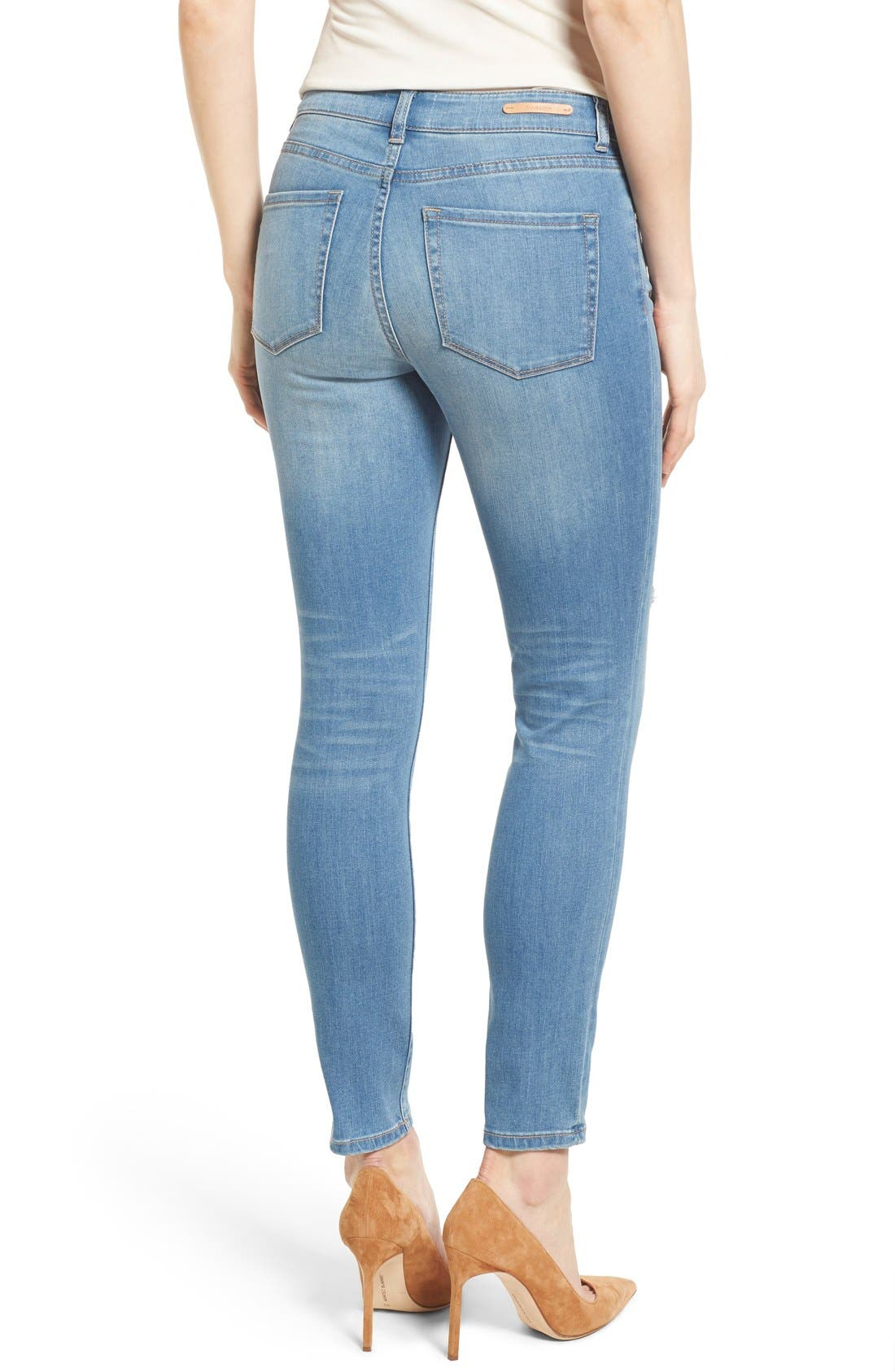 Distressed Ankle Skinny Jeans,                             Alternate thumbnail 2, color,                             400