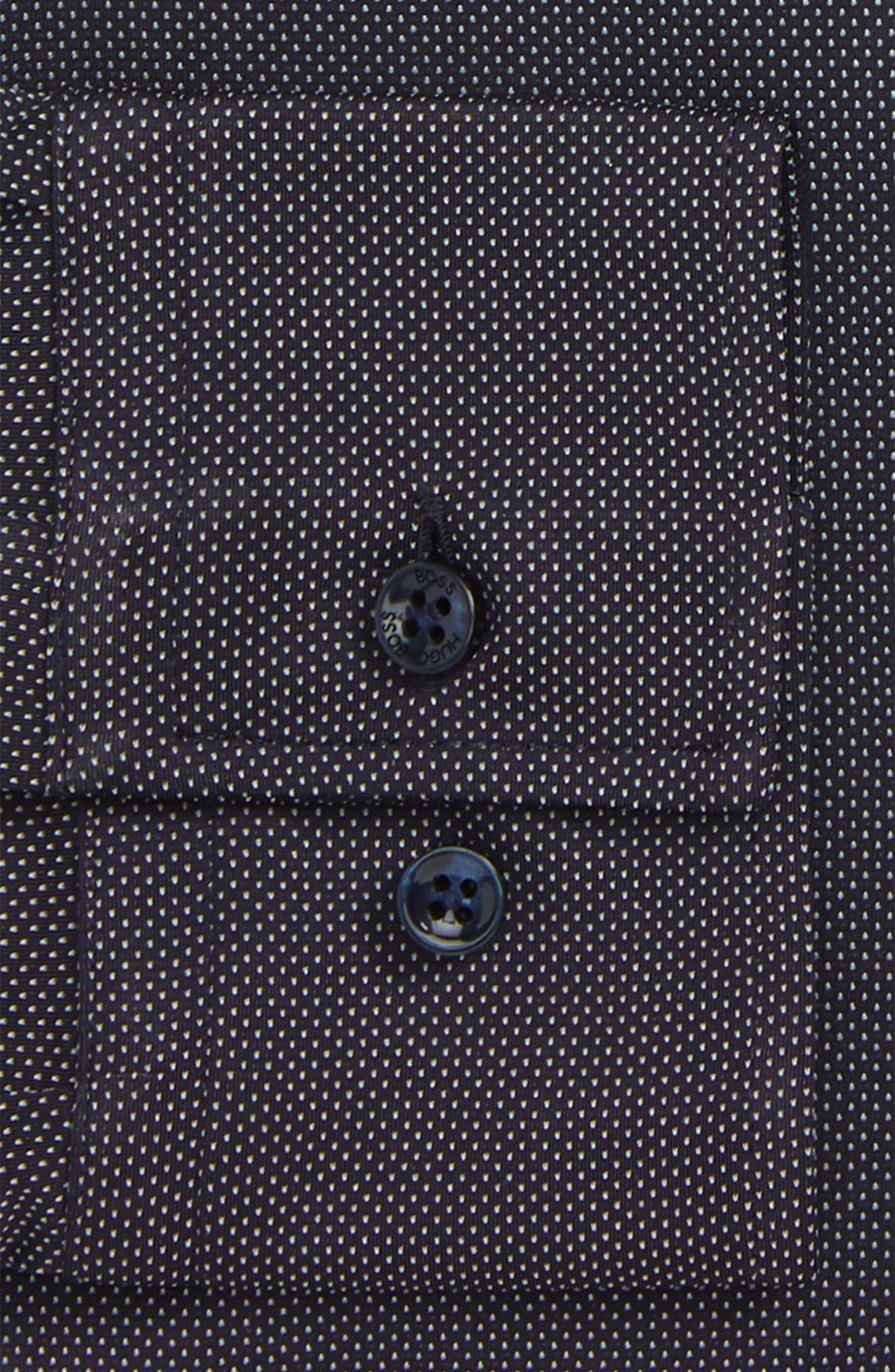 Jenno Slim Fit Stretch Dot Dress Shirt,                             Alternate thumbnail 2, color,                             NAVY