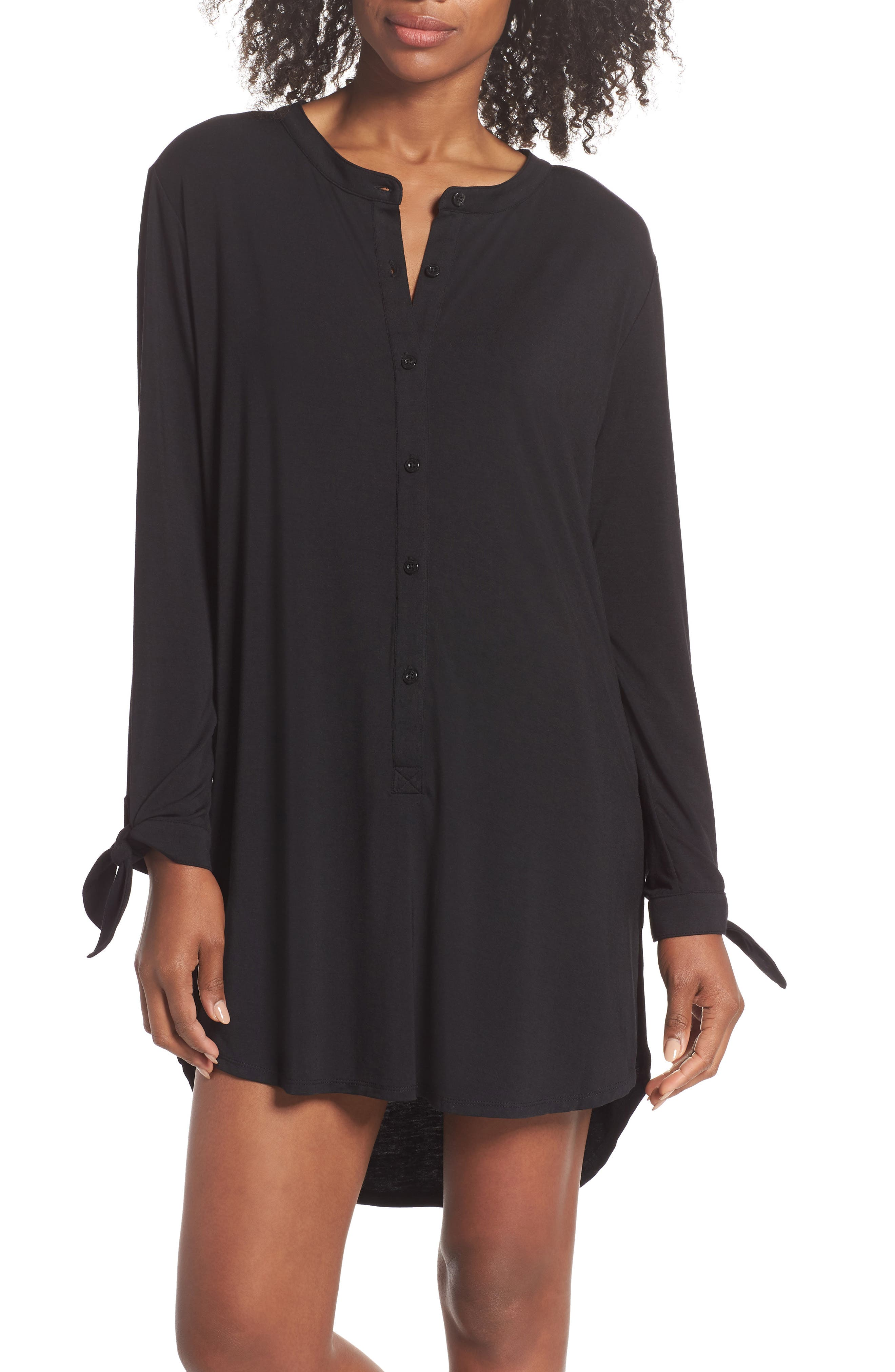 Breathe Modal Jersey Sleep Shirt,                         Main,                         color, 001
