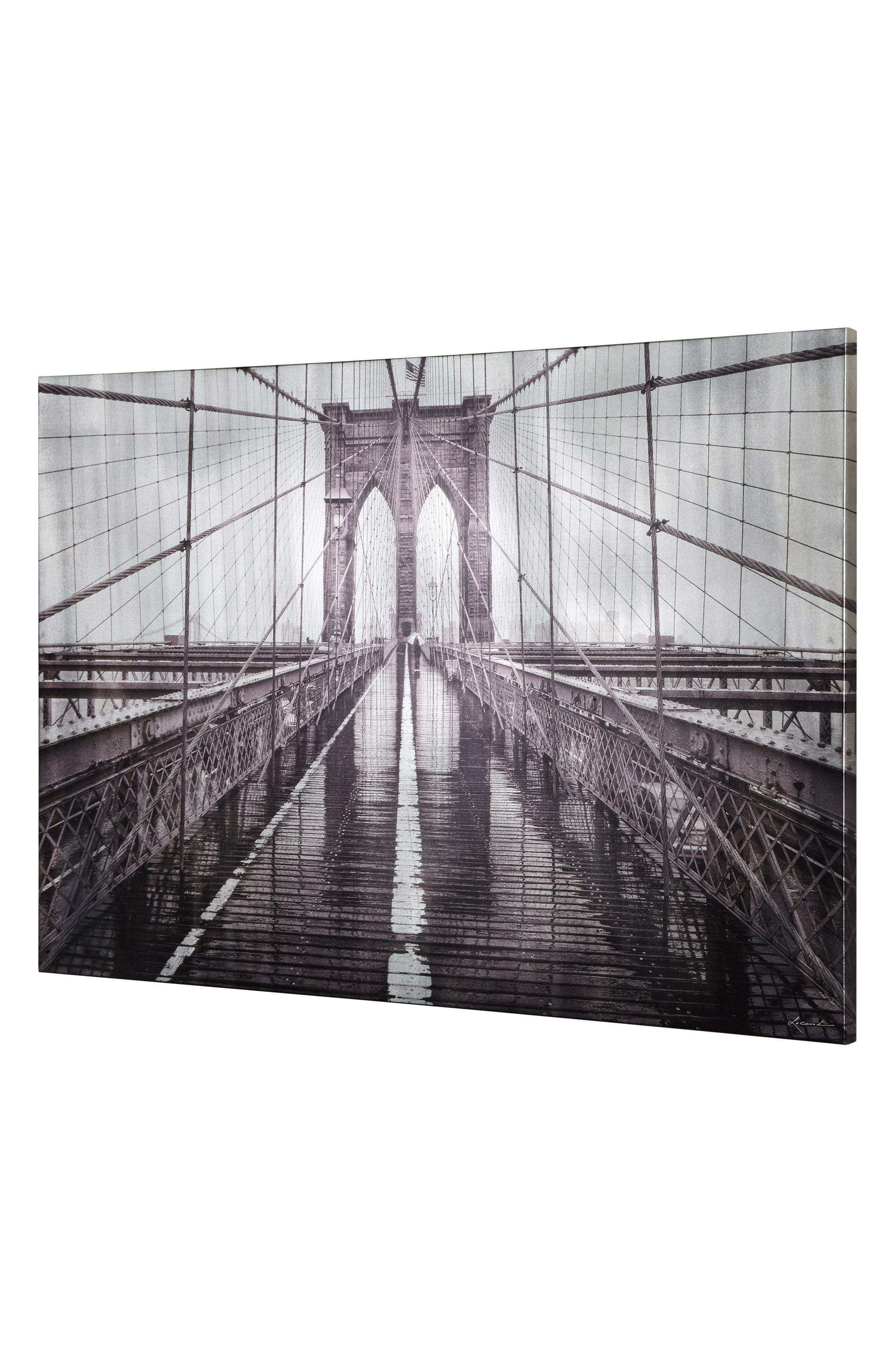 Iconic Brooklyn Bridge Canvas Wall Art,                             Alternate thumbnail 2, color,                             MULTICOLOR