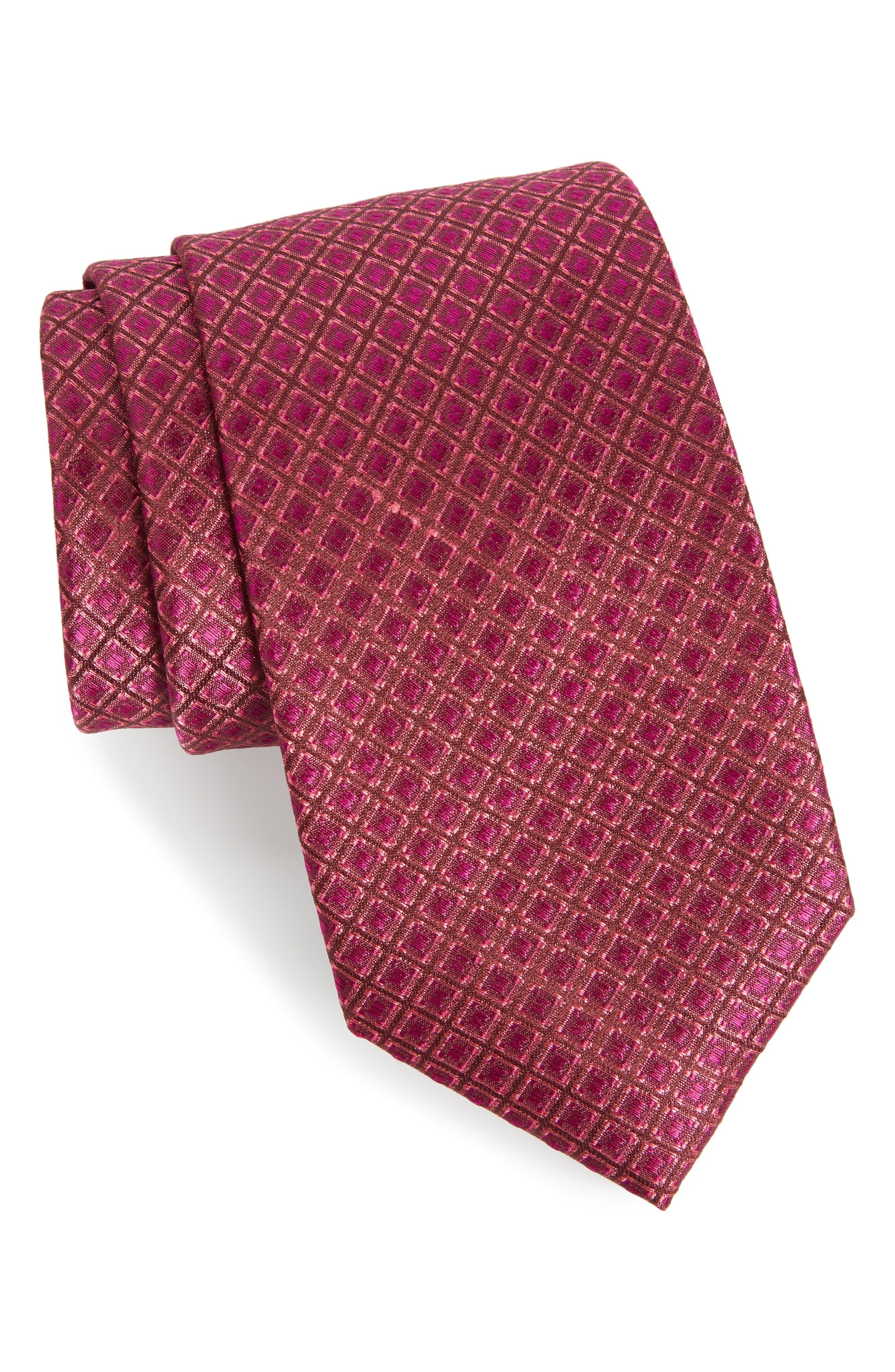 Denberg Check Silk Tie,                             Main thumbnail 4, color,
