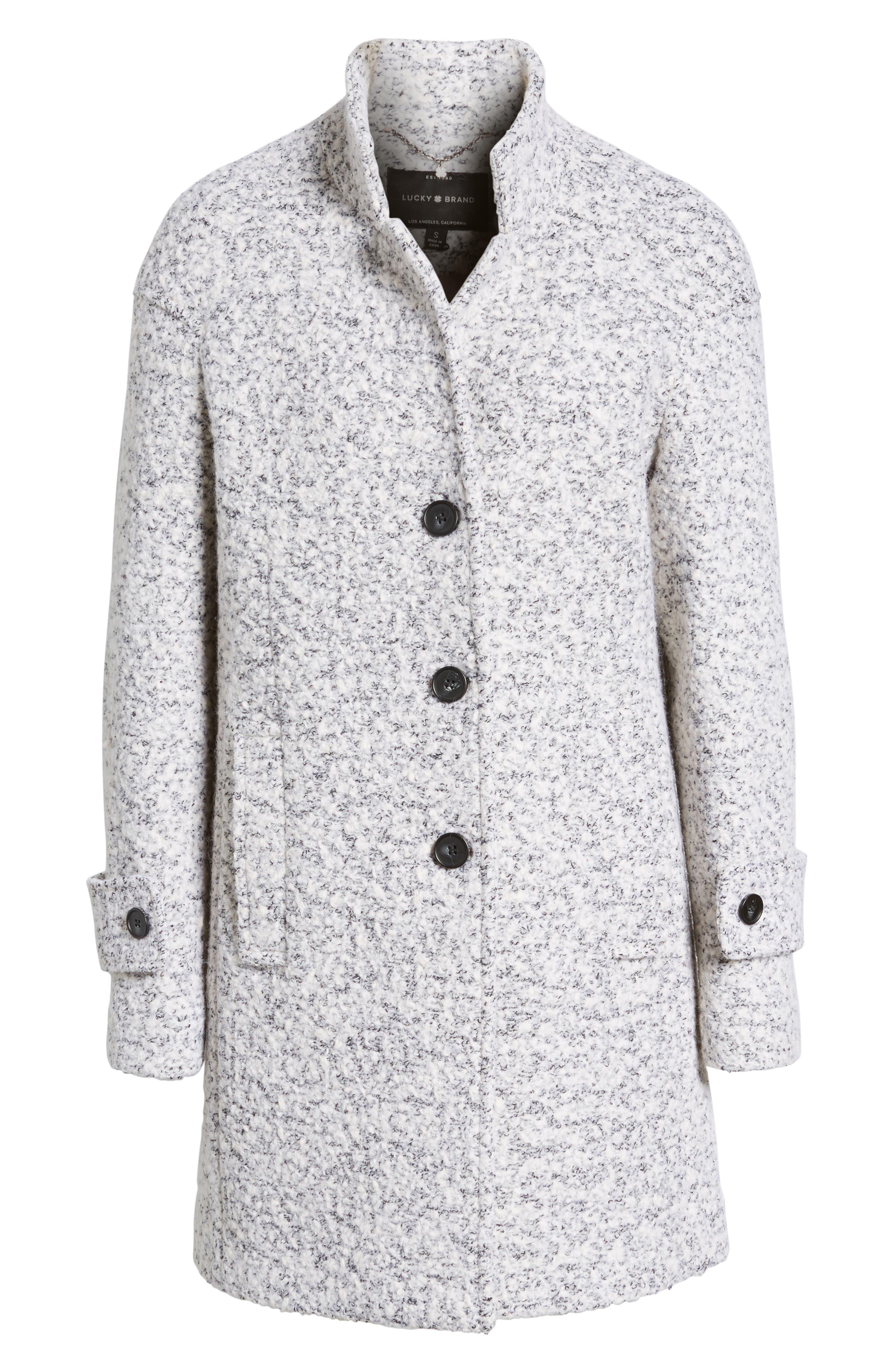 Boiled Wool Coat,                             Alternate thumbnail 5, color,                             056