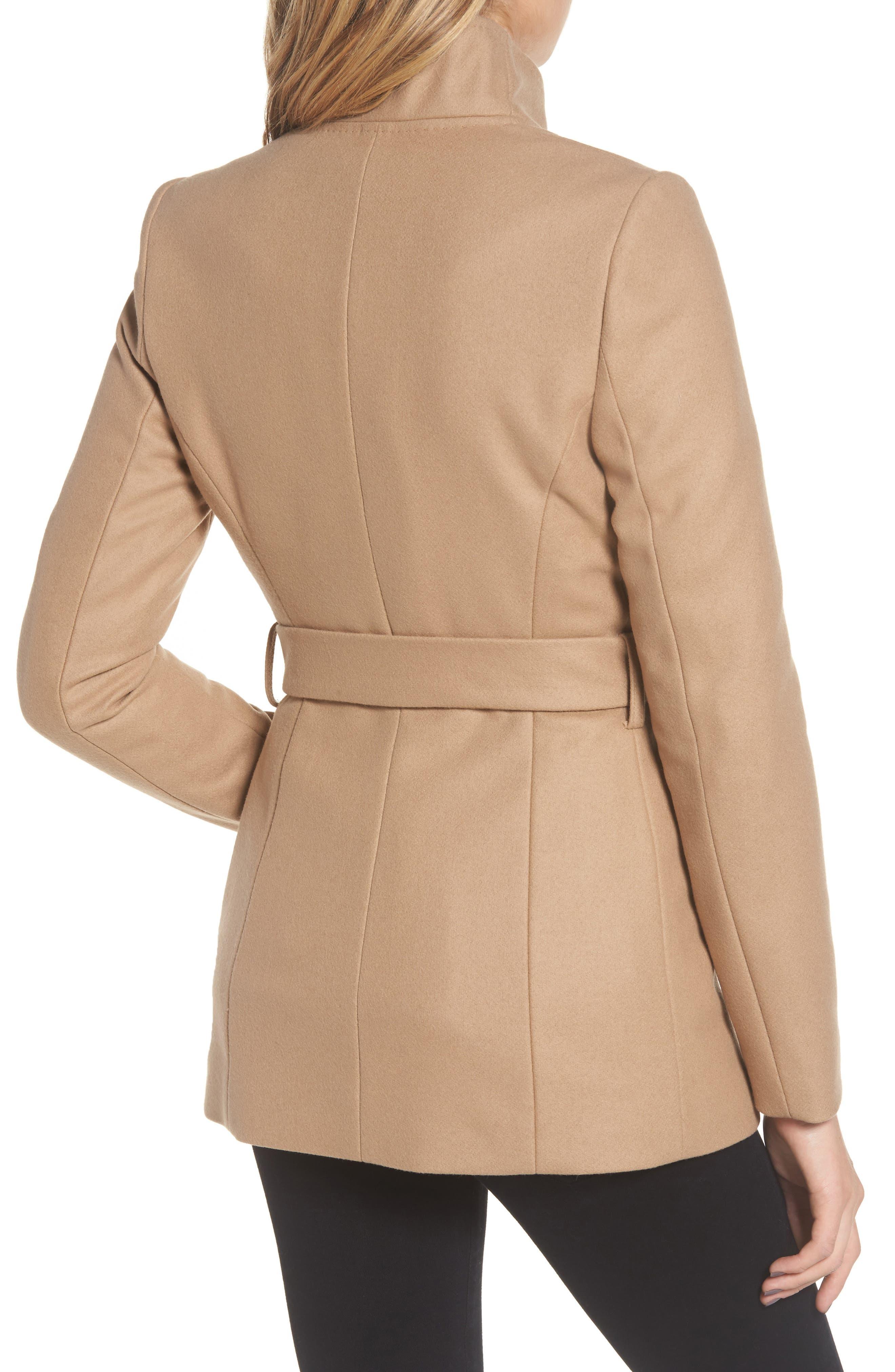 Wool Blend Short Wrap Coat,                             Alternate thumbnail 2, color,                             271