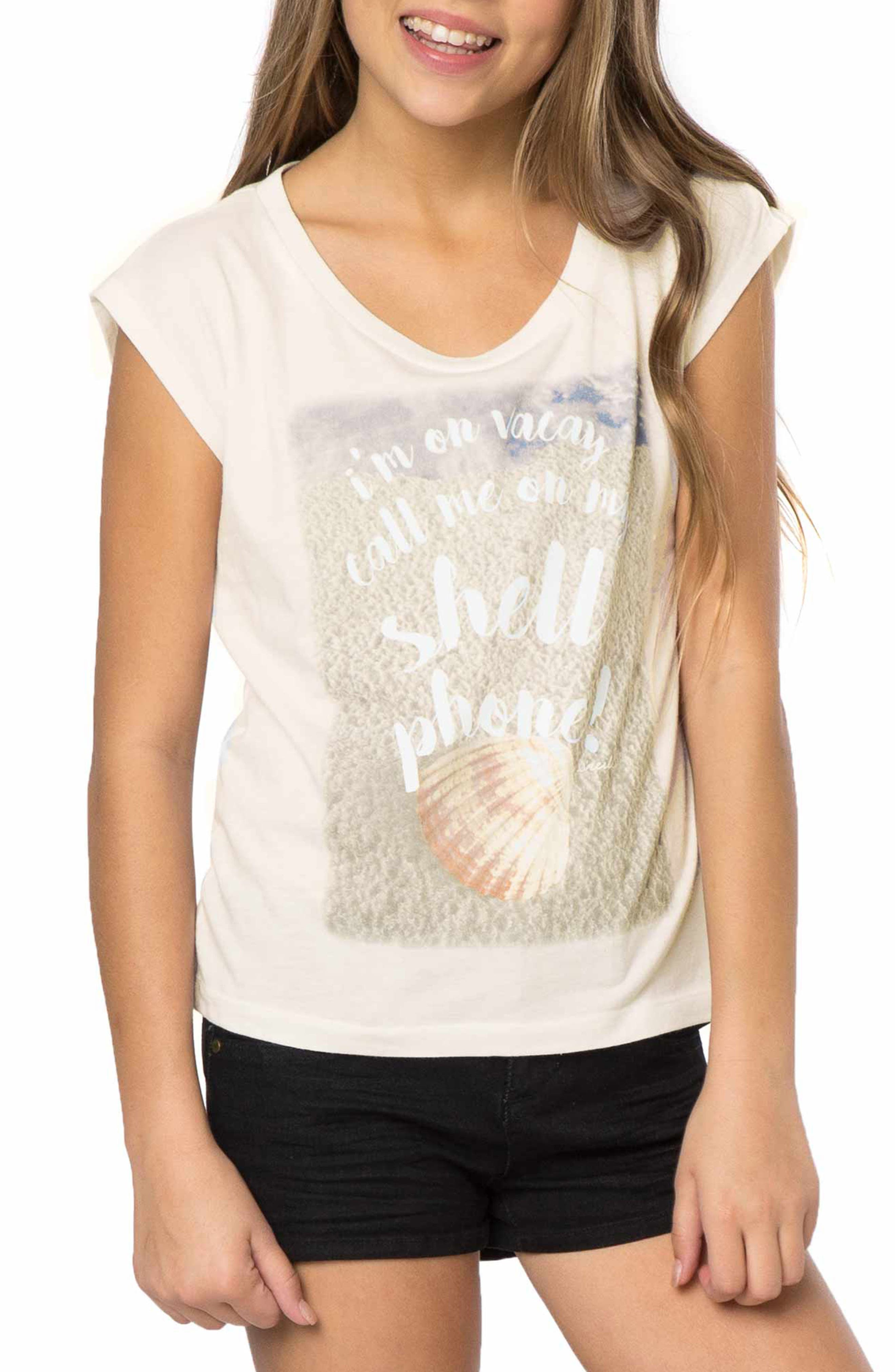 Shell Phone Graphic Print Tee,                         Main,                         color,