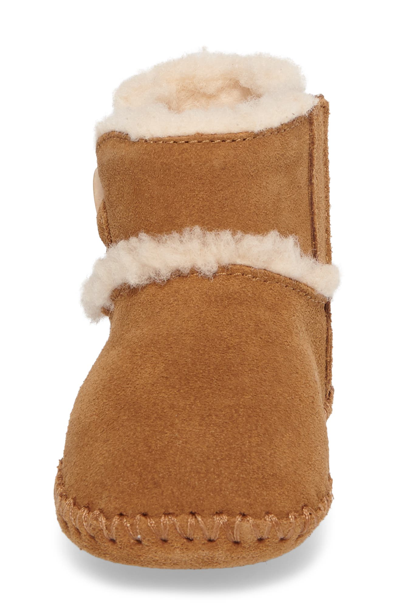 UGG<SUP>®</SUP>,                             Lemmy II Button Bootie,                             Alternate thumbnail 4, color,                             CHESTNUT