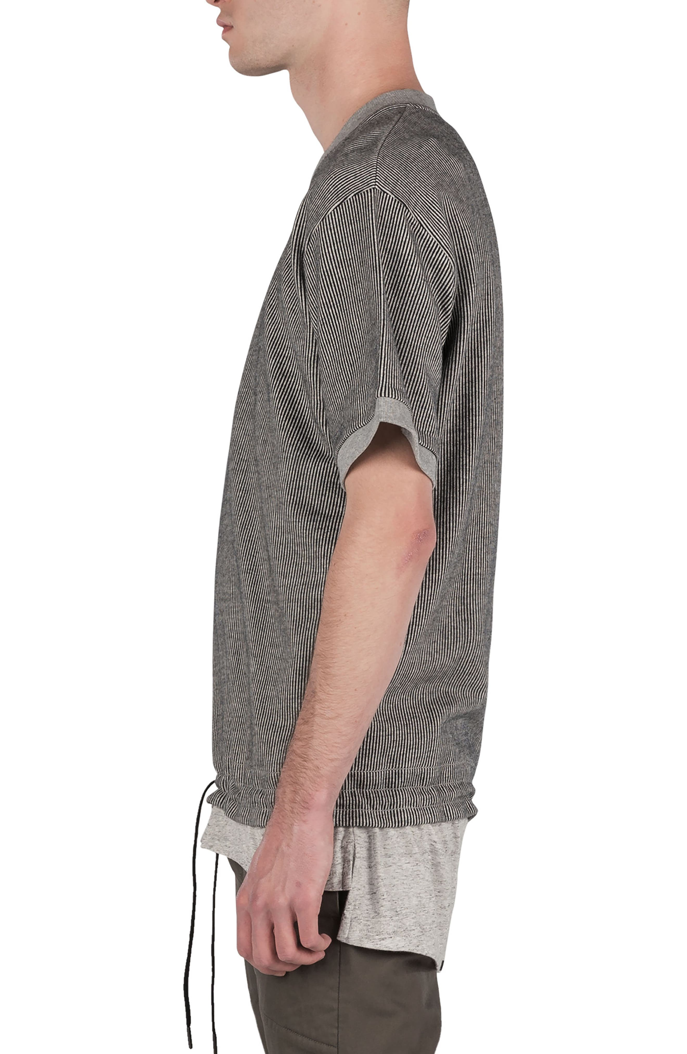 Stripe Box Sweatshirt,                             Alternate thumbnail 3, color,                             050