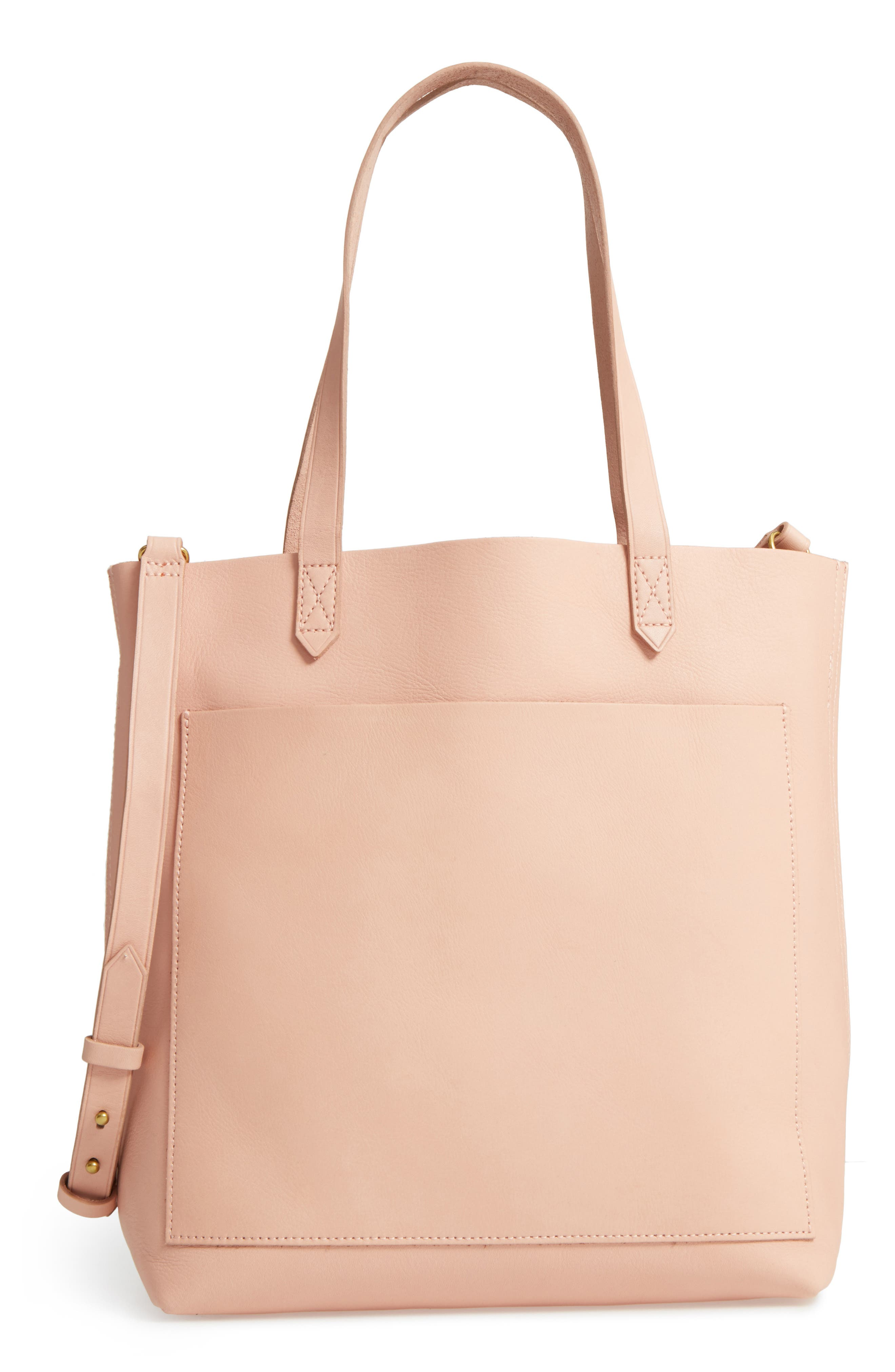 Medium Leather Transport Tote,                             Main thumbnail 8, color,