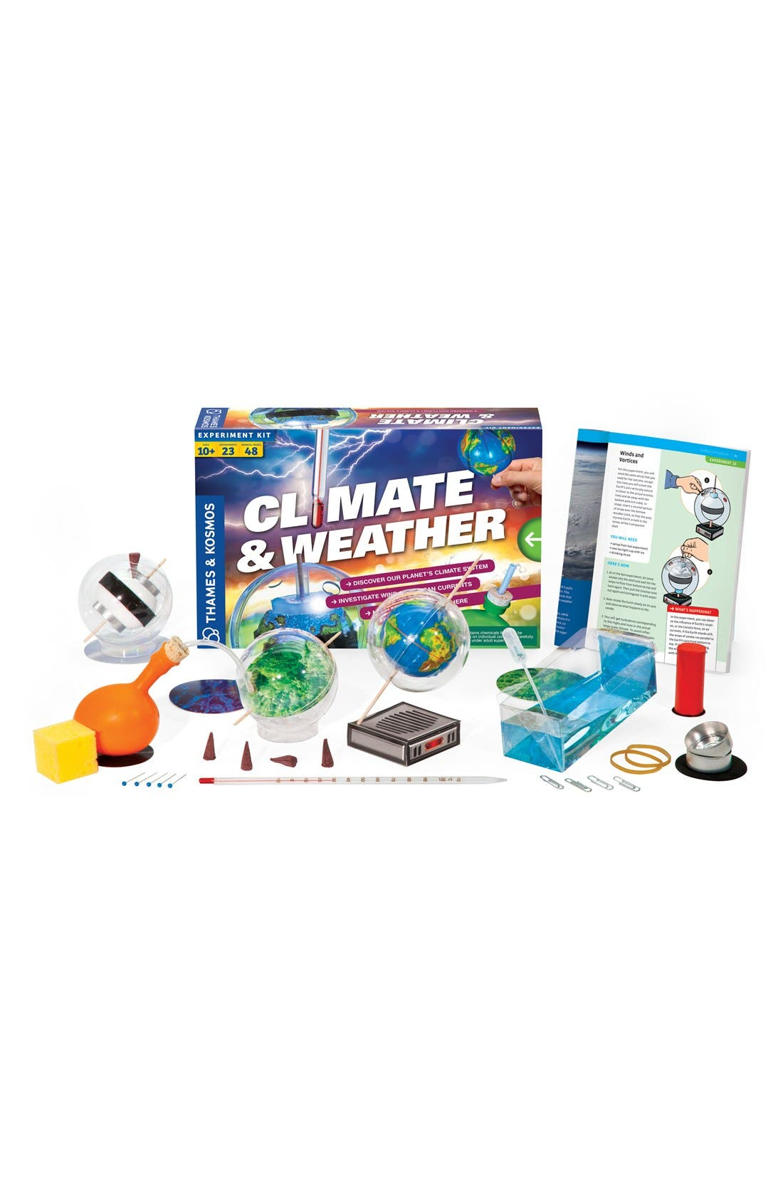 THAMES & KOSMOS 'Climate & Weather' Experiment Kit, Main, color, 000