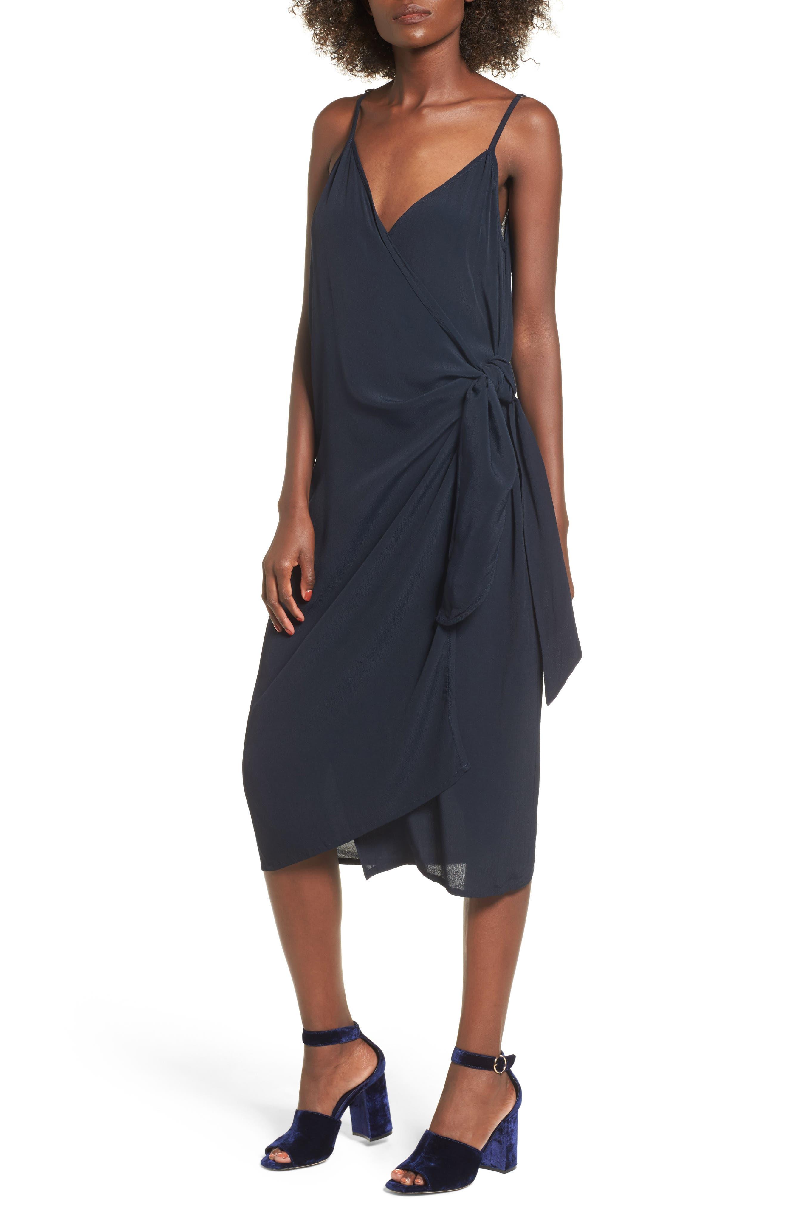 Juel Side Tie Midi Dress,                             Main thumbnail 1, color,                             400