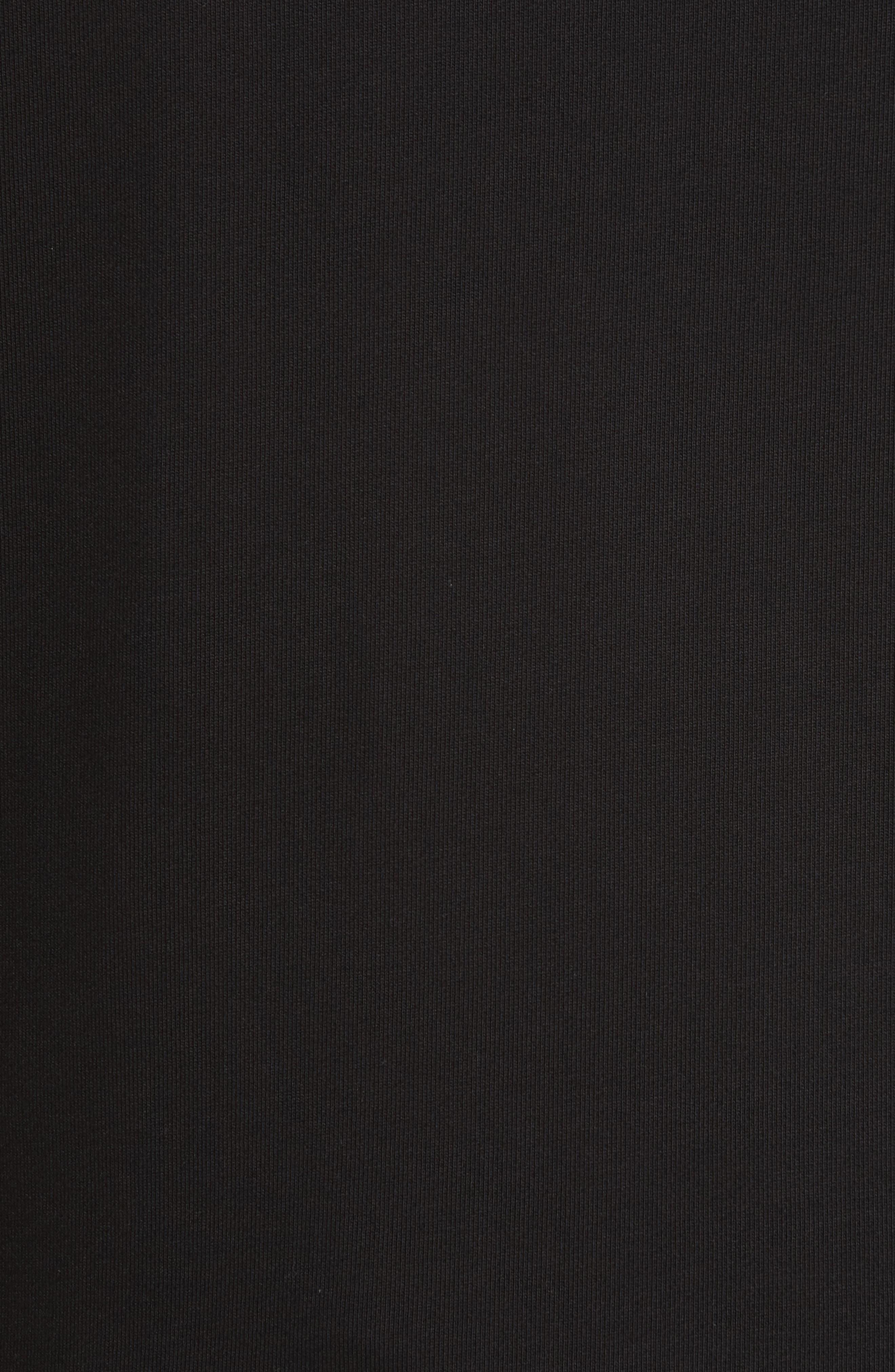 Zip Hoodie,                             Alternate thumbnail 5, color,                             BLACK/ LIME