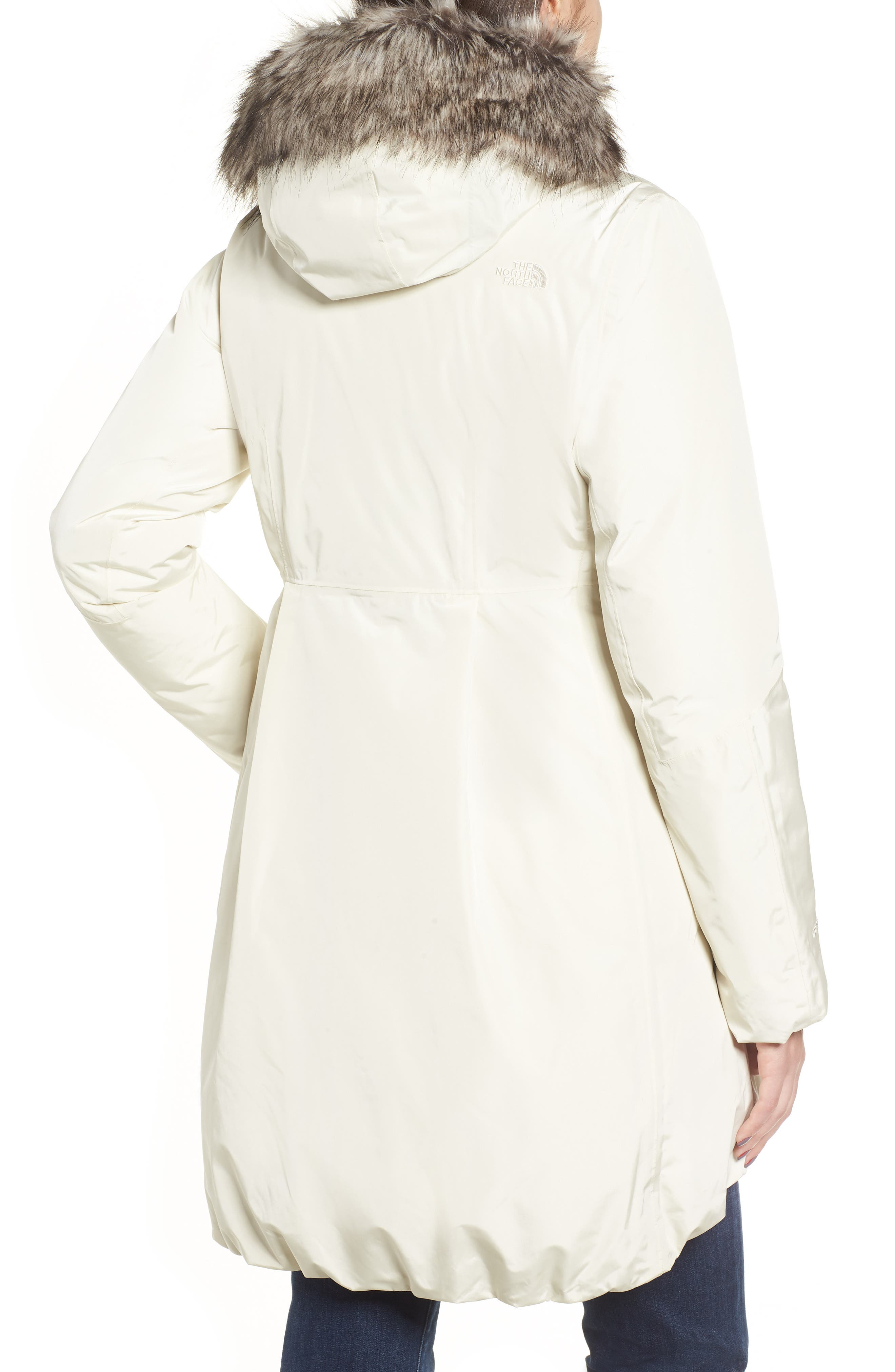 THE NORTH FACE,                             Transarctic Mama Down Parka,                             Alternate thumbnail 2, color,                             VINTAGE WHITE