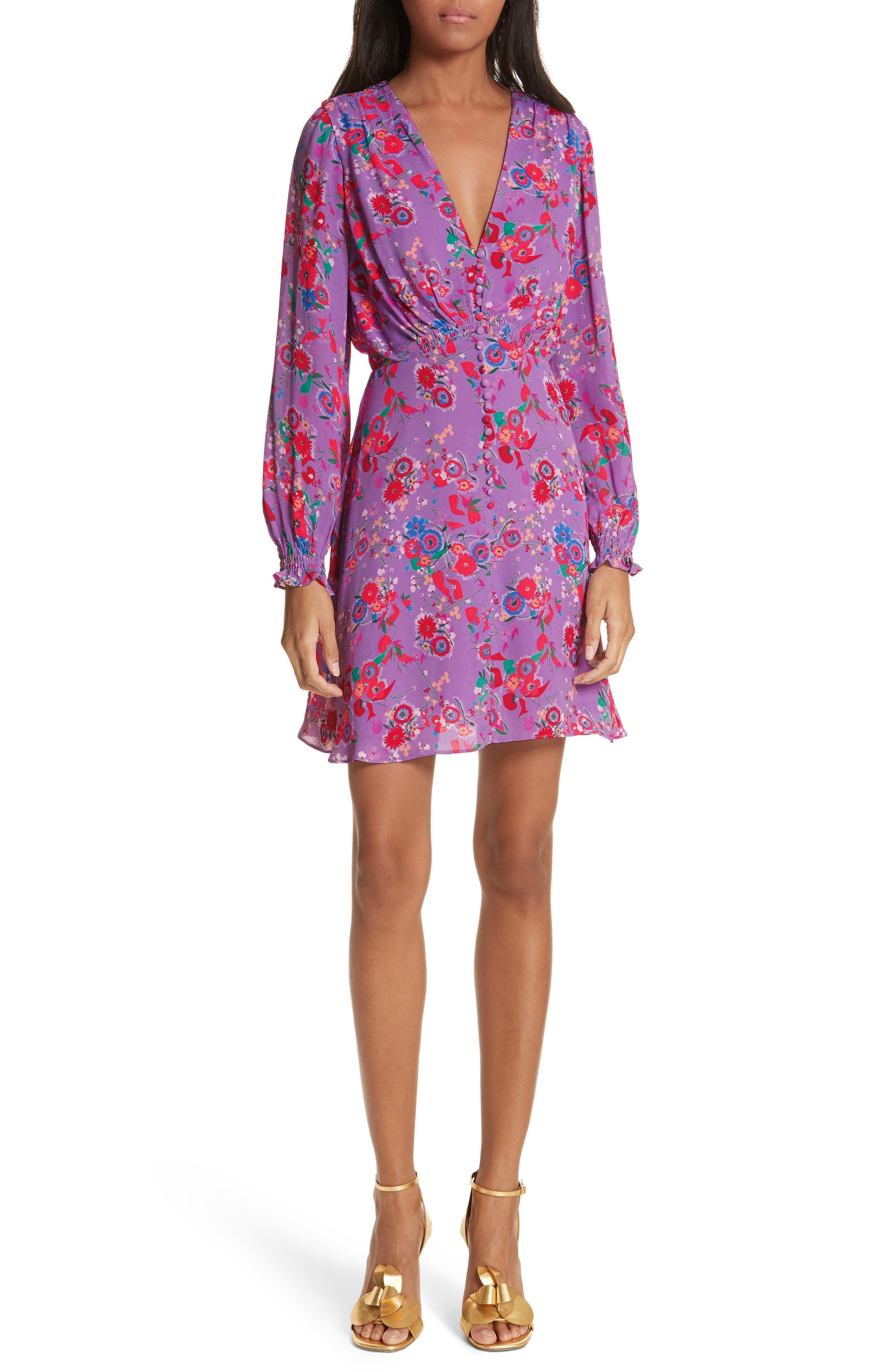 Eve Floral Print Dress,                             Main thumbnail 1, color,                             531