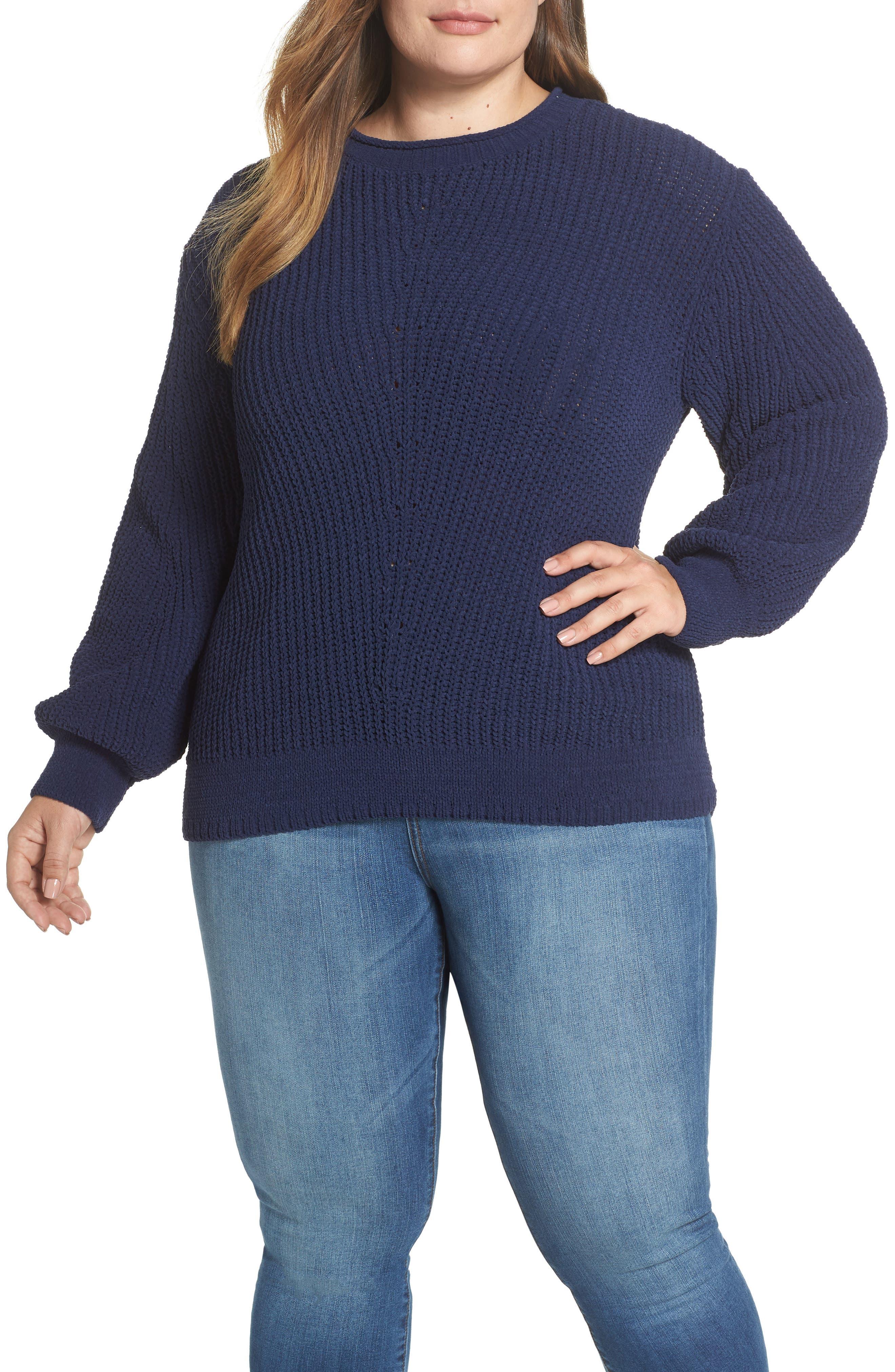 CASLON<SUP>®</SUP> Chenille Crewneck Sweater, Main, color, 401