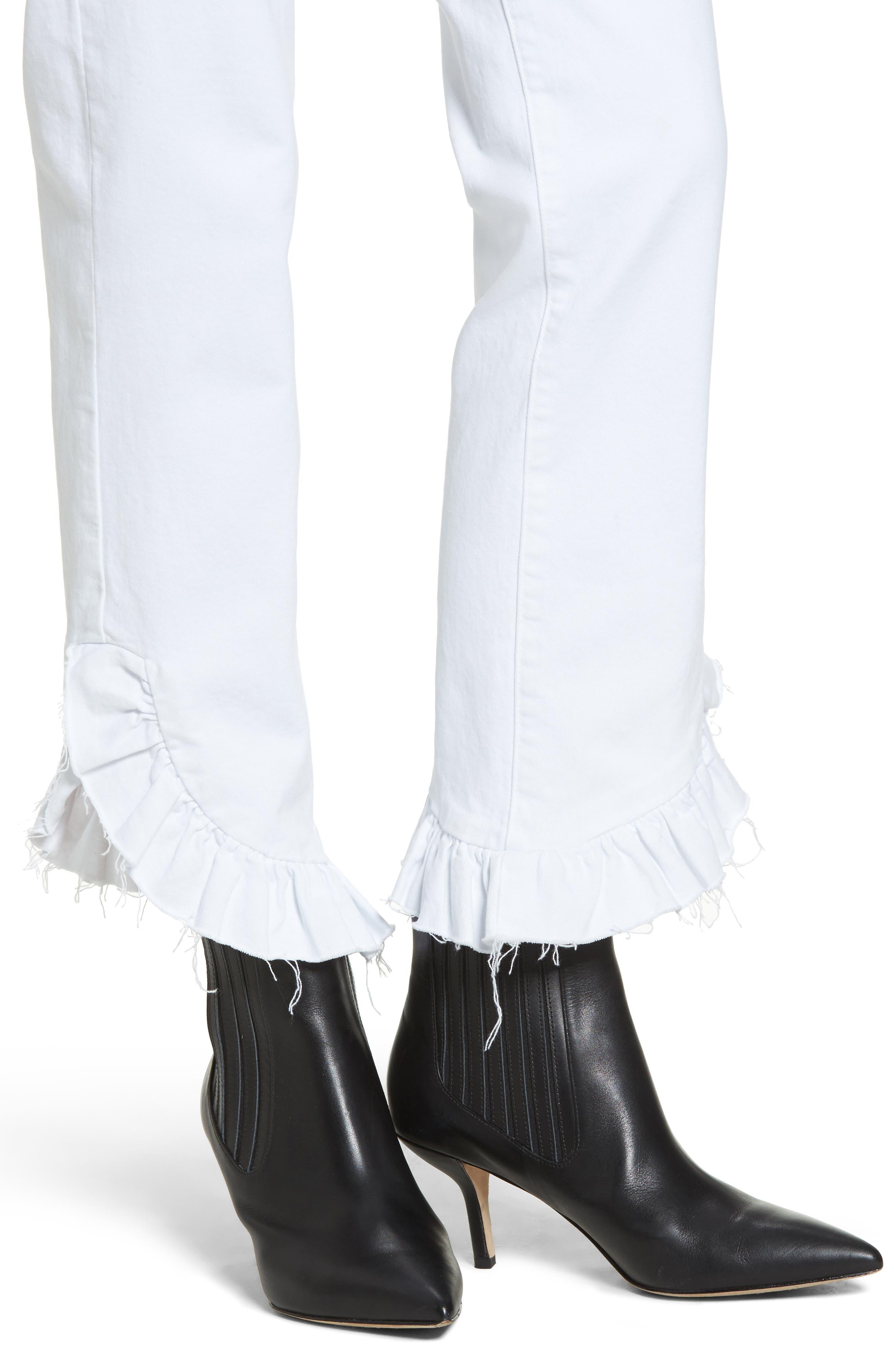 Jacqueline Crop Straight Leg Jeans,                             Alternate thumbnail 4, color,                             100