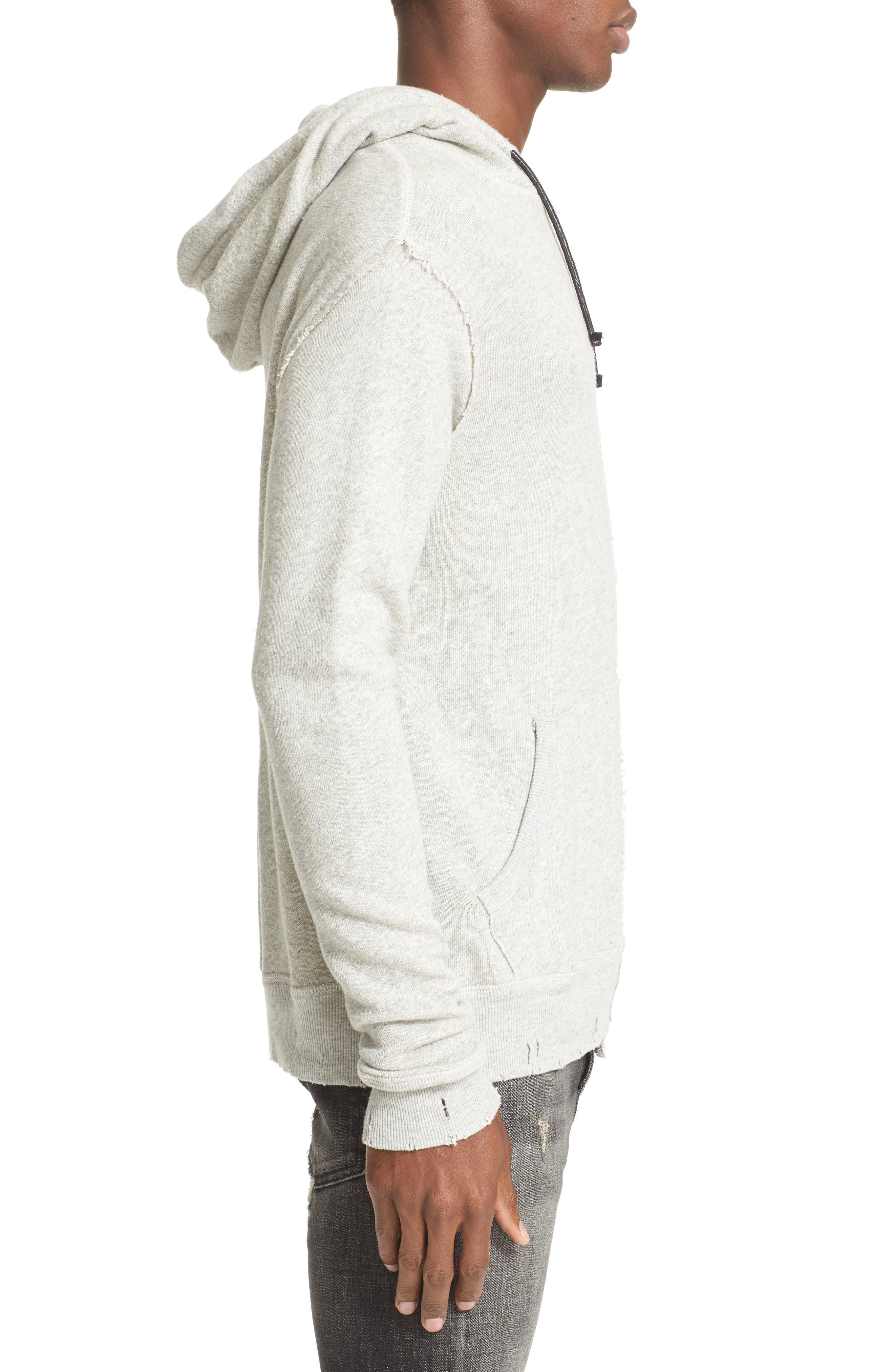 Spliced Hoodie,                             Alternate thumbnail 3, color,                             HEATHER GREY