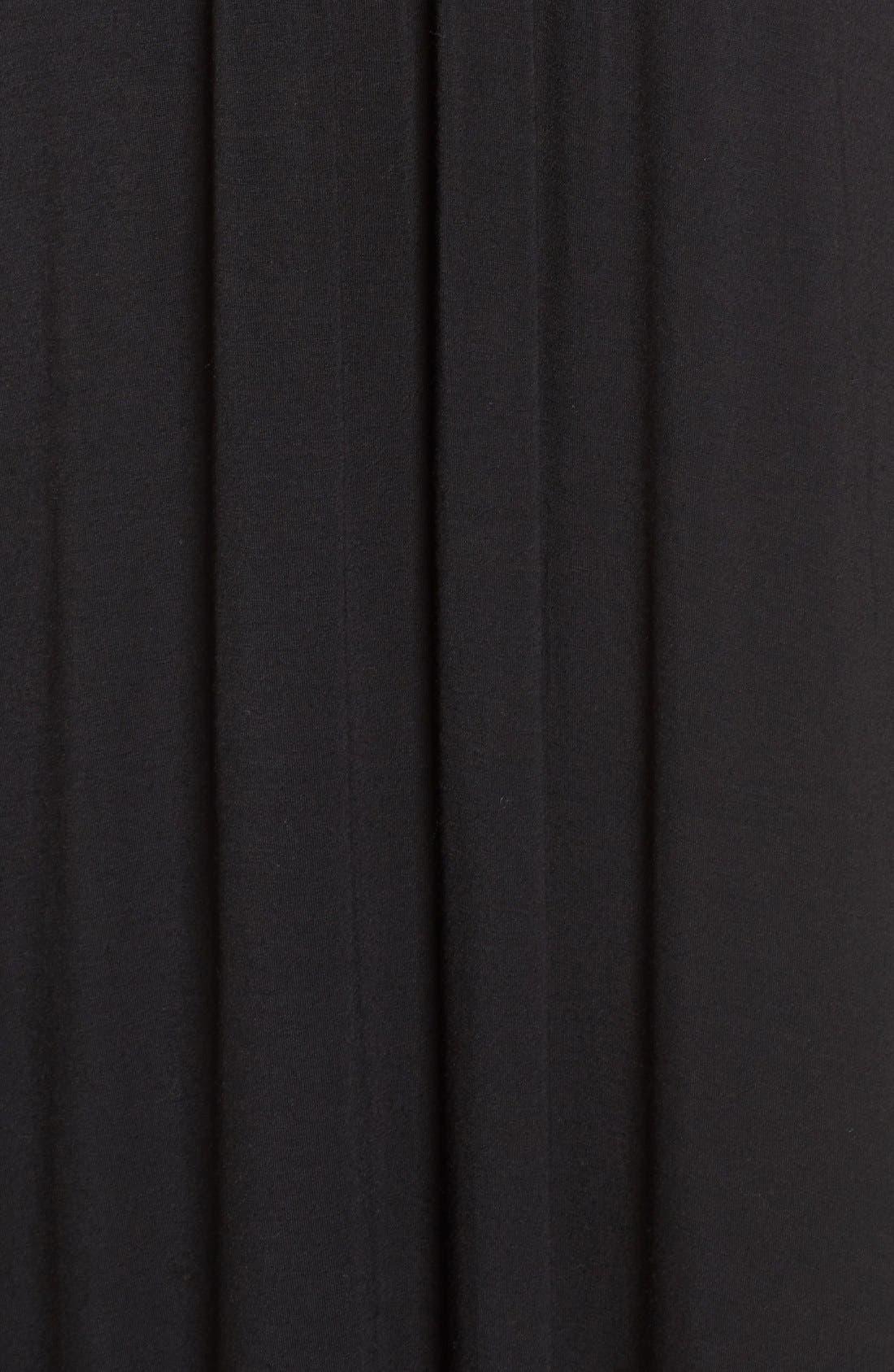 Knit Maxi Dress,                             Alternate thumbnail 9, color,                             001