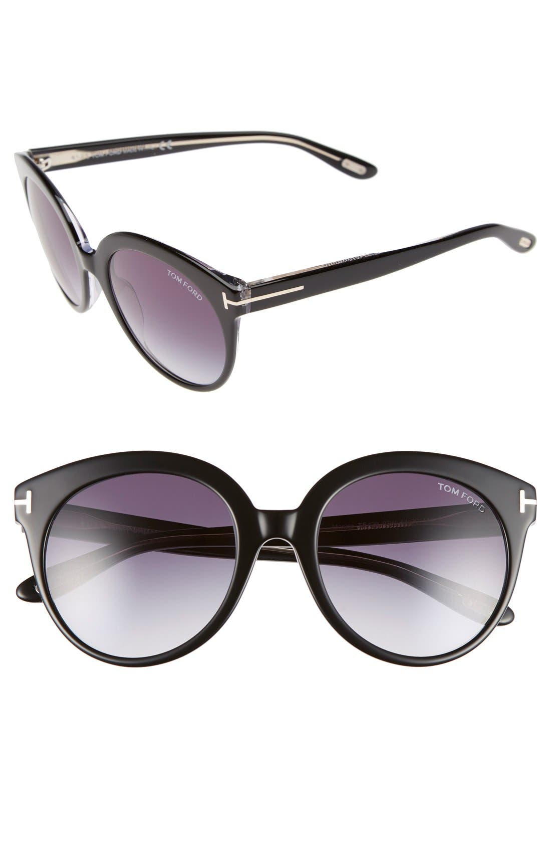 'Monica' 54mm Retro Sunglasses,                             Main thumbnail 1, color,