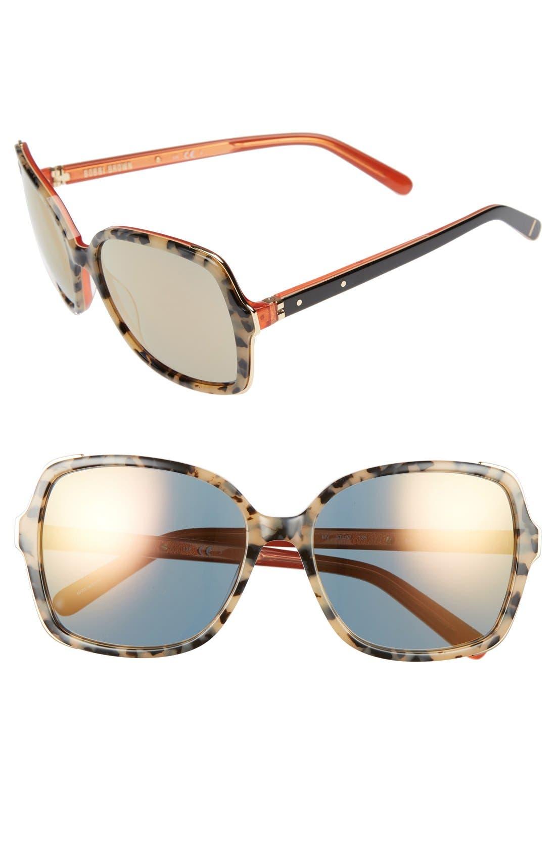 'The Alice' 57mm Sunglasses,                             Main thumbnail 2, color,