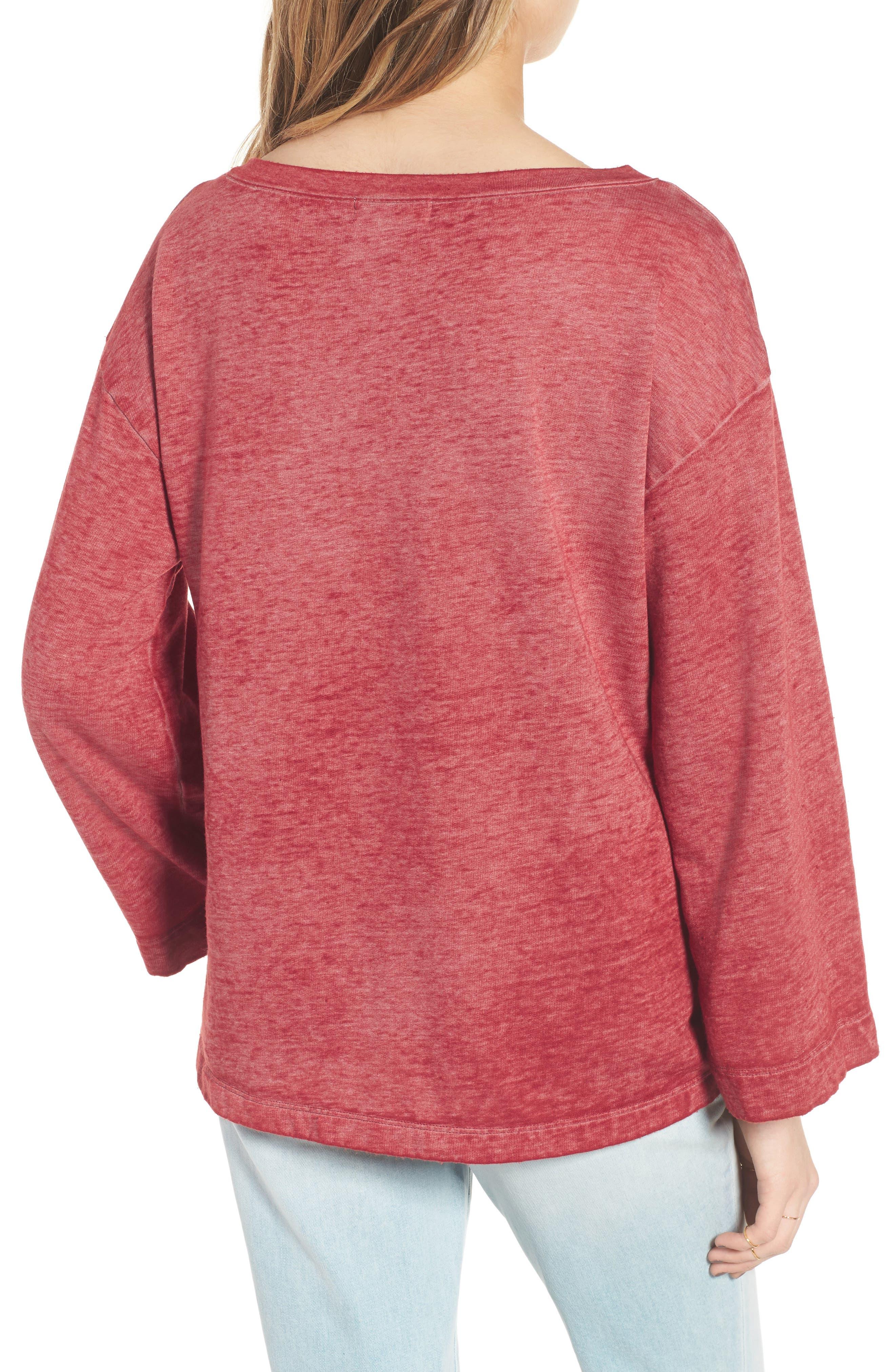 Bell Sleeve Sweatshirt,                             Alternate thumbnail 7, color,