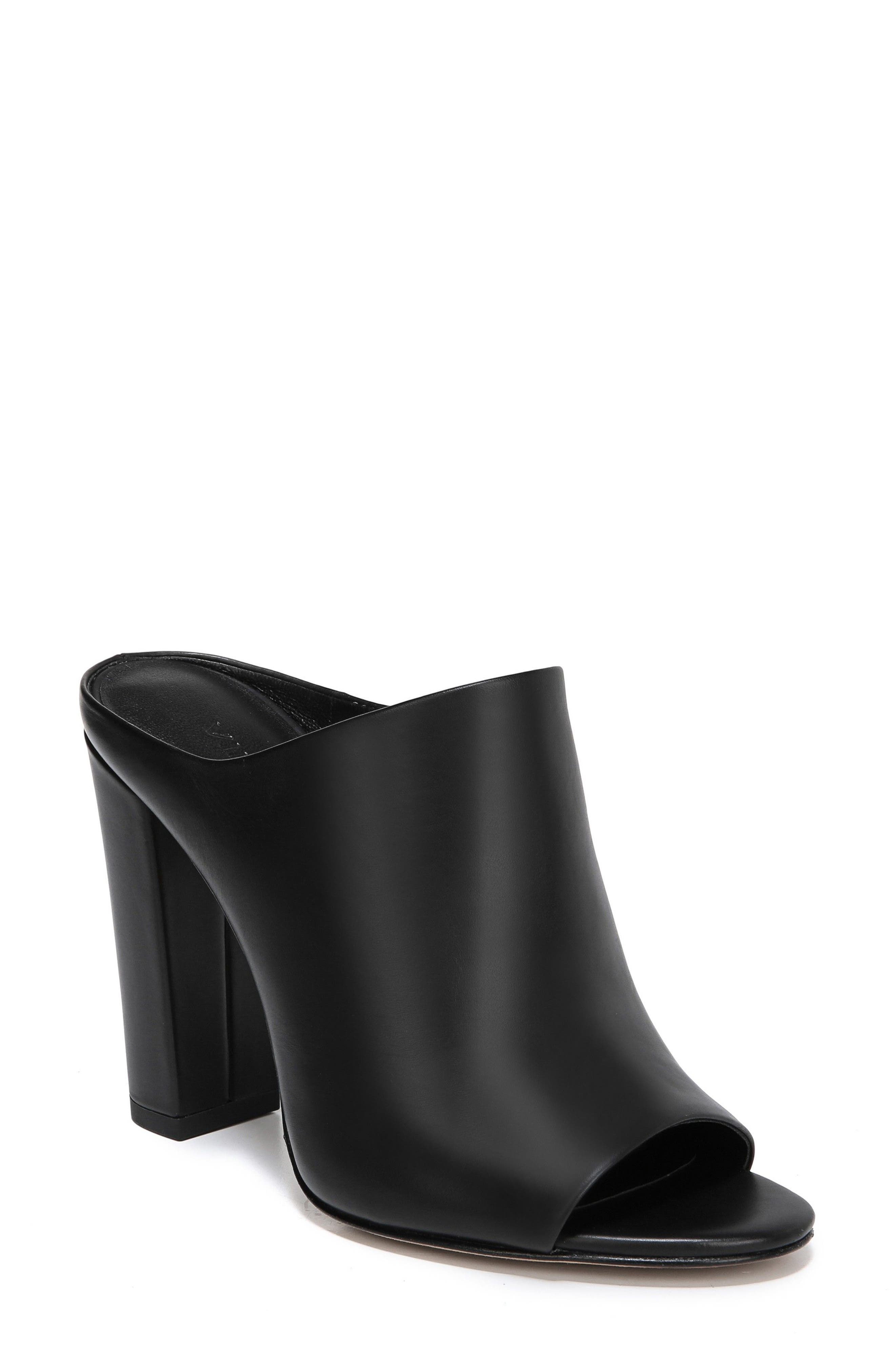 Alora Mule,                         Main,                         color, BLACK
