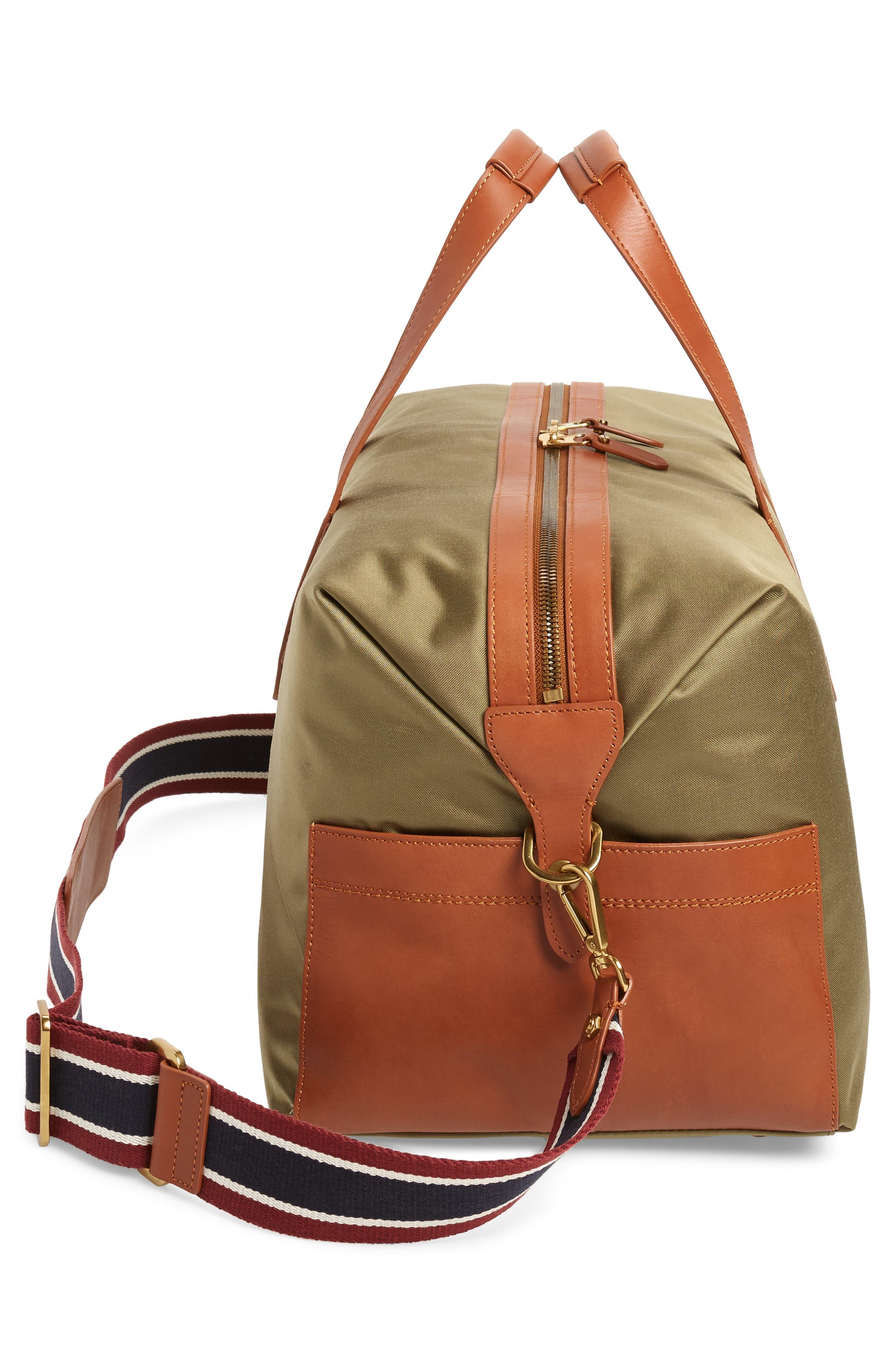 J.CREW,                             Oar Stripe Weekend Bag,                             Alternate thumbnail 5, color,                             300