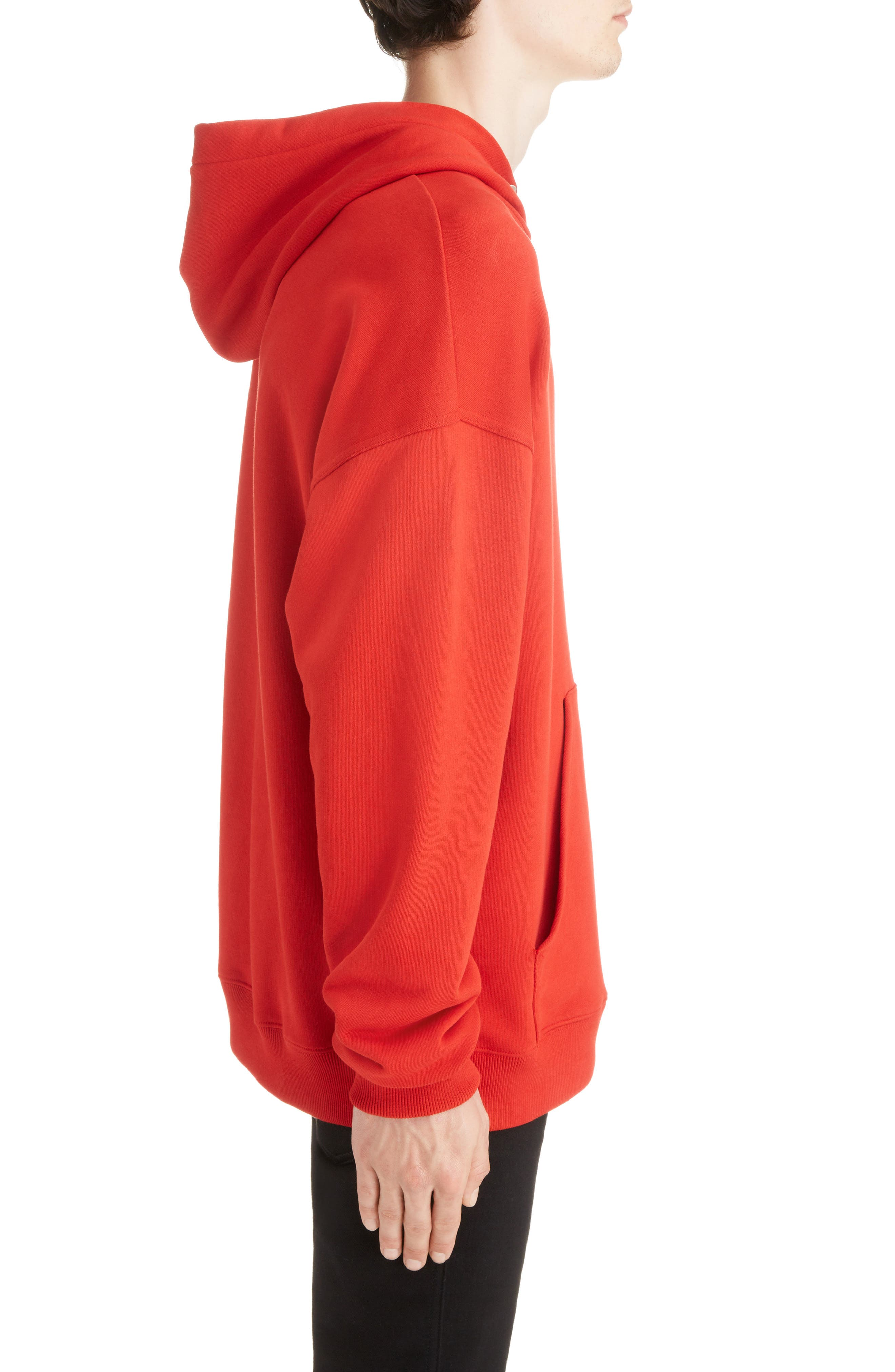 Logo Hoodie,                             Alternate thumbnail 3, color,                             BRIGHT RED