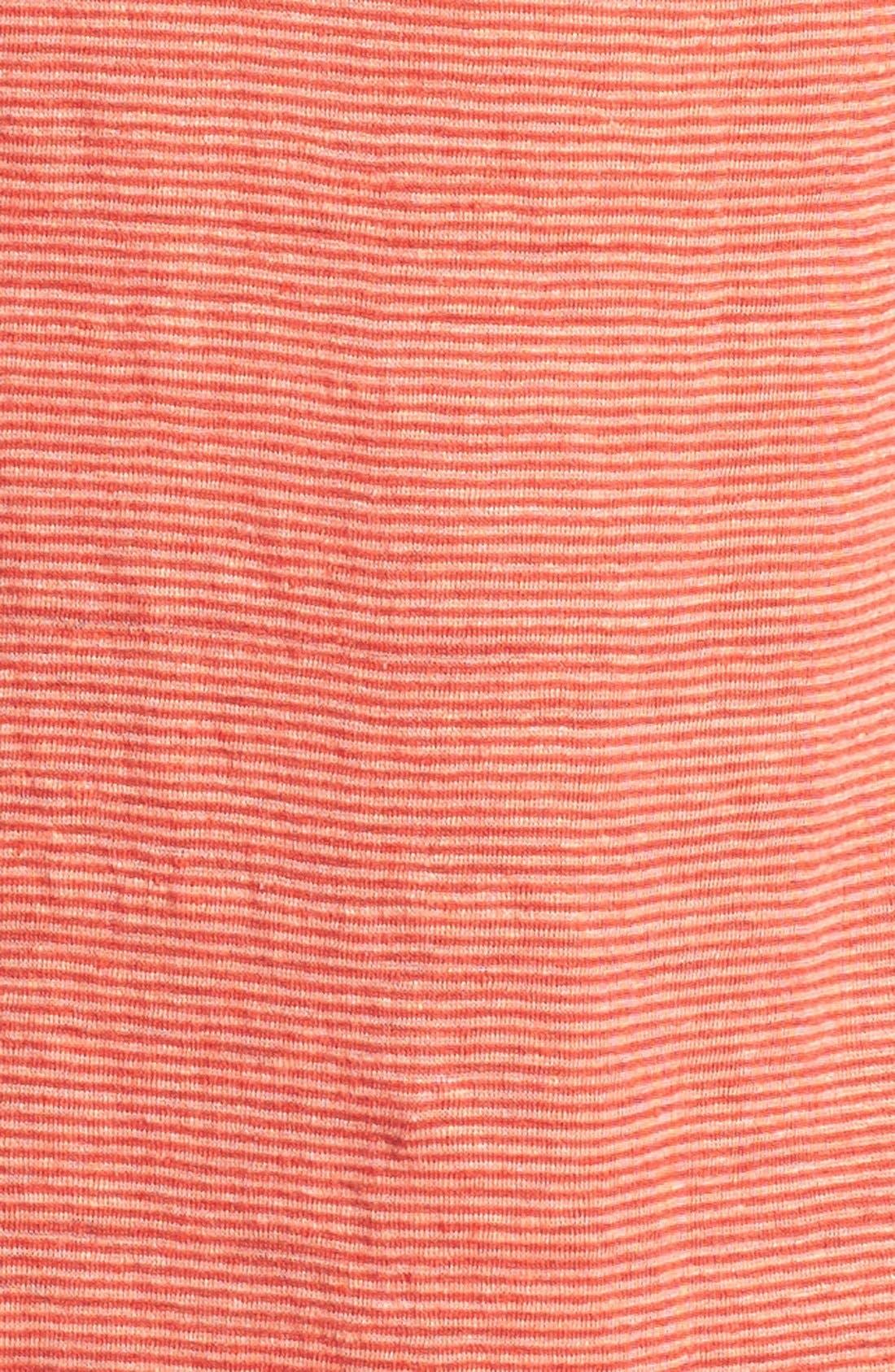 U-Neck Stripe Tee,                             Alternate thumbnail 4, color,