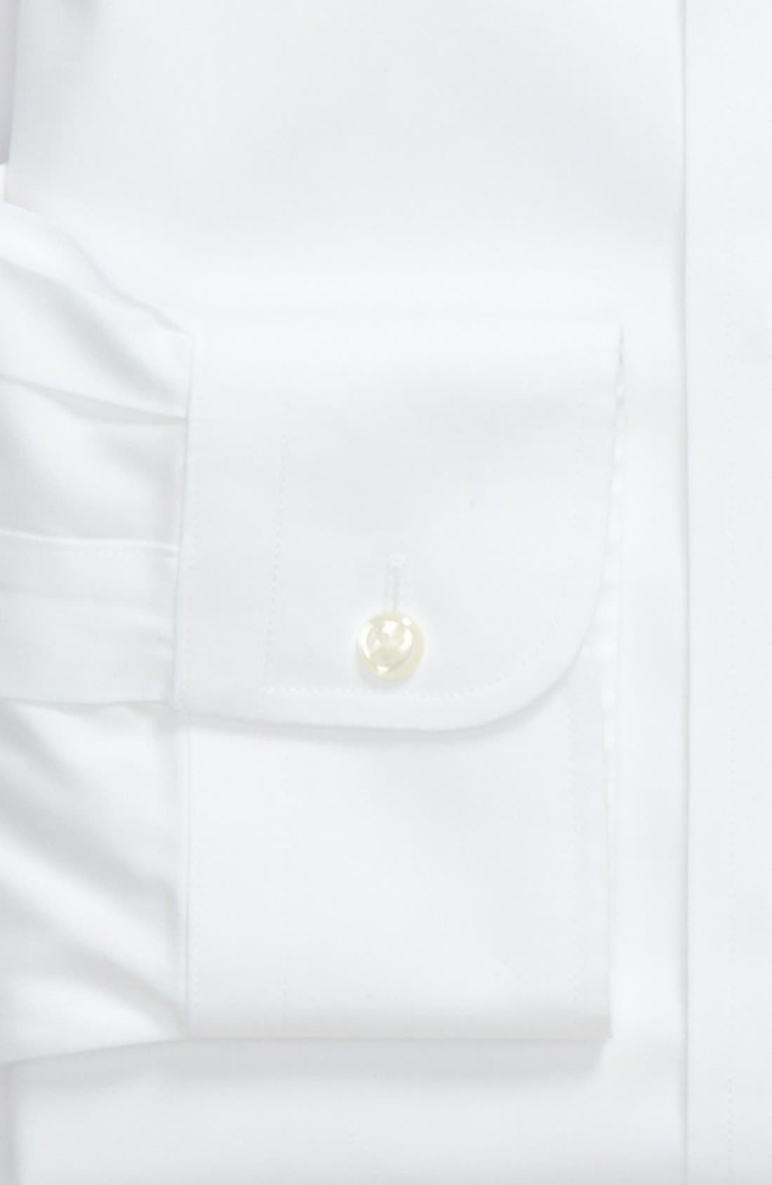 Smartcare<sup>™</sup> Traditional Fit Dress Shirt,                             Alternate thumbnail 3, color,                             WHITE