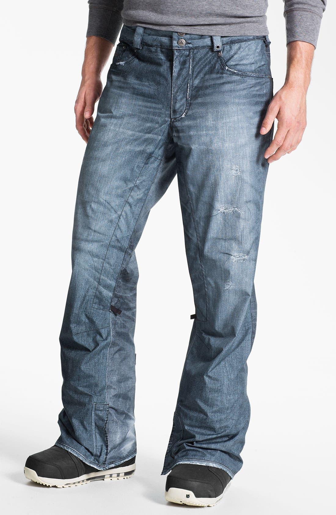 'The Jeans' Snowboard Pants,                             Main thumbnail 1, color,                             400