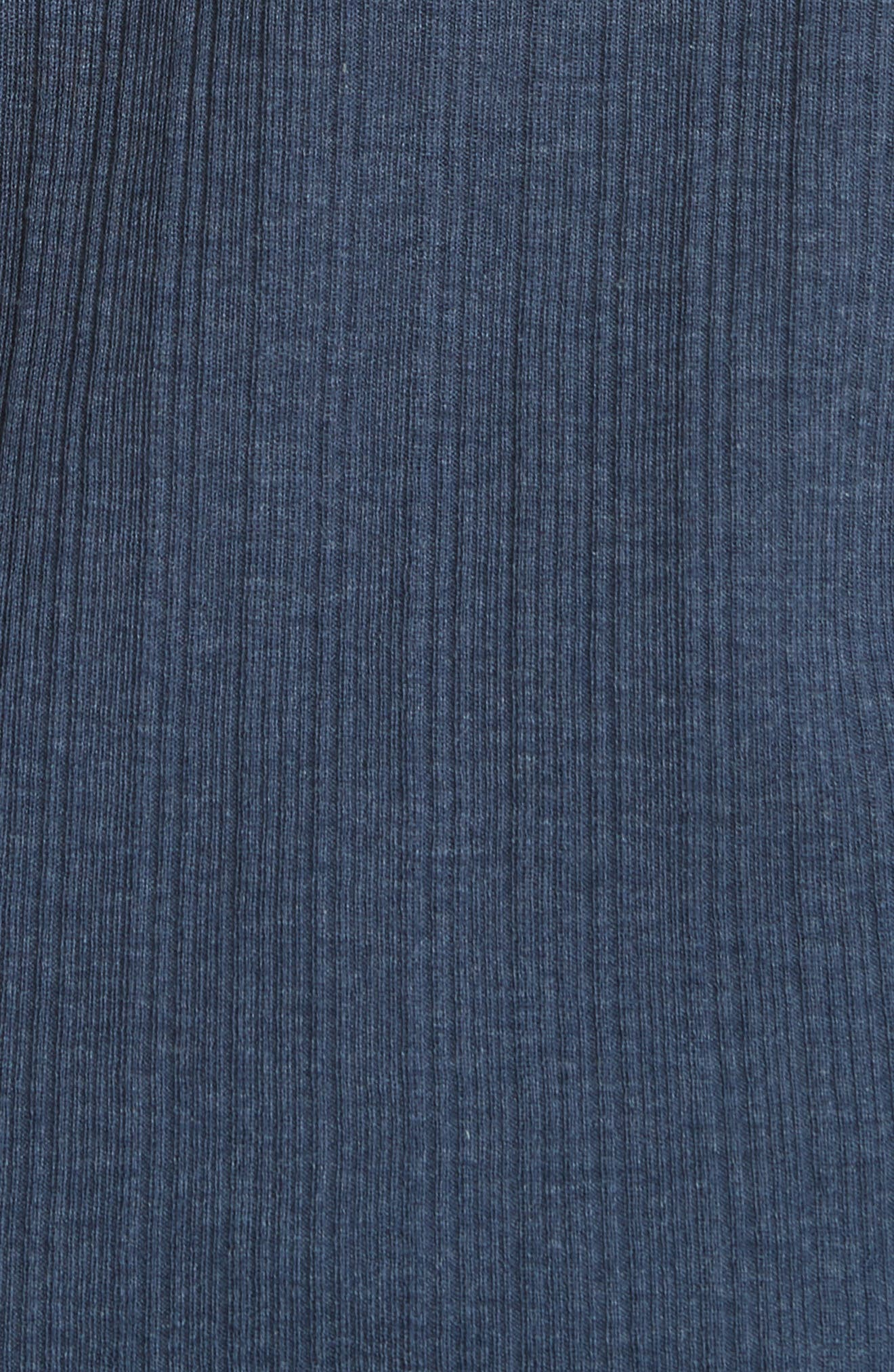 Rib Henley T-Shirt,                             Alternate thumbnail 5, color,                             ATLANTIC BLUE