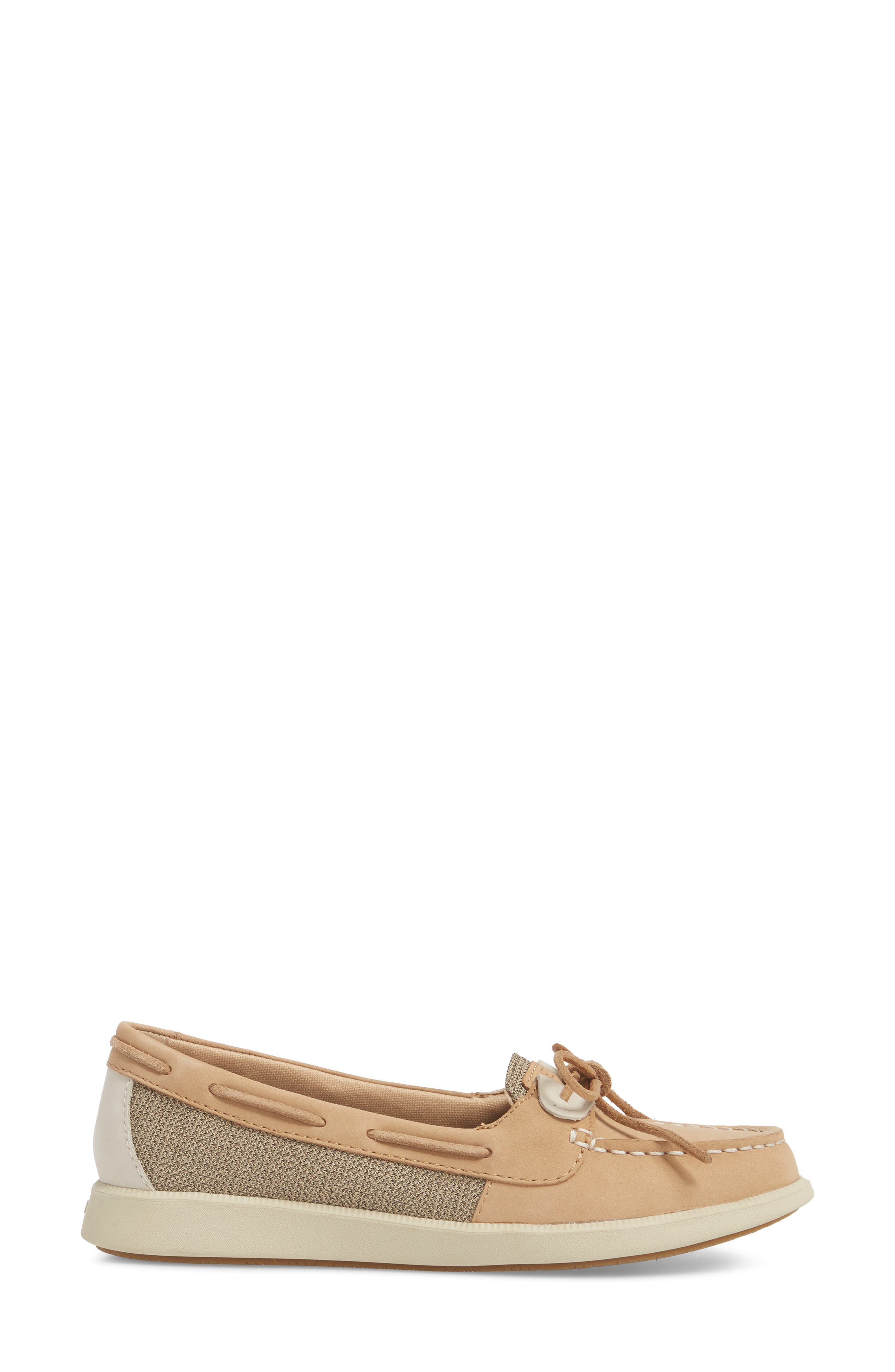Oasis Boat Shoe,                             Alternate thumbnail 3, color,                             LINEN OAT LEATHER