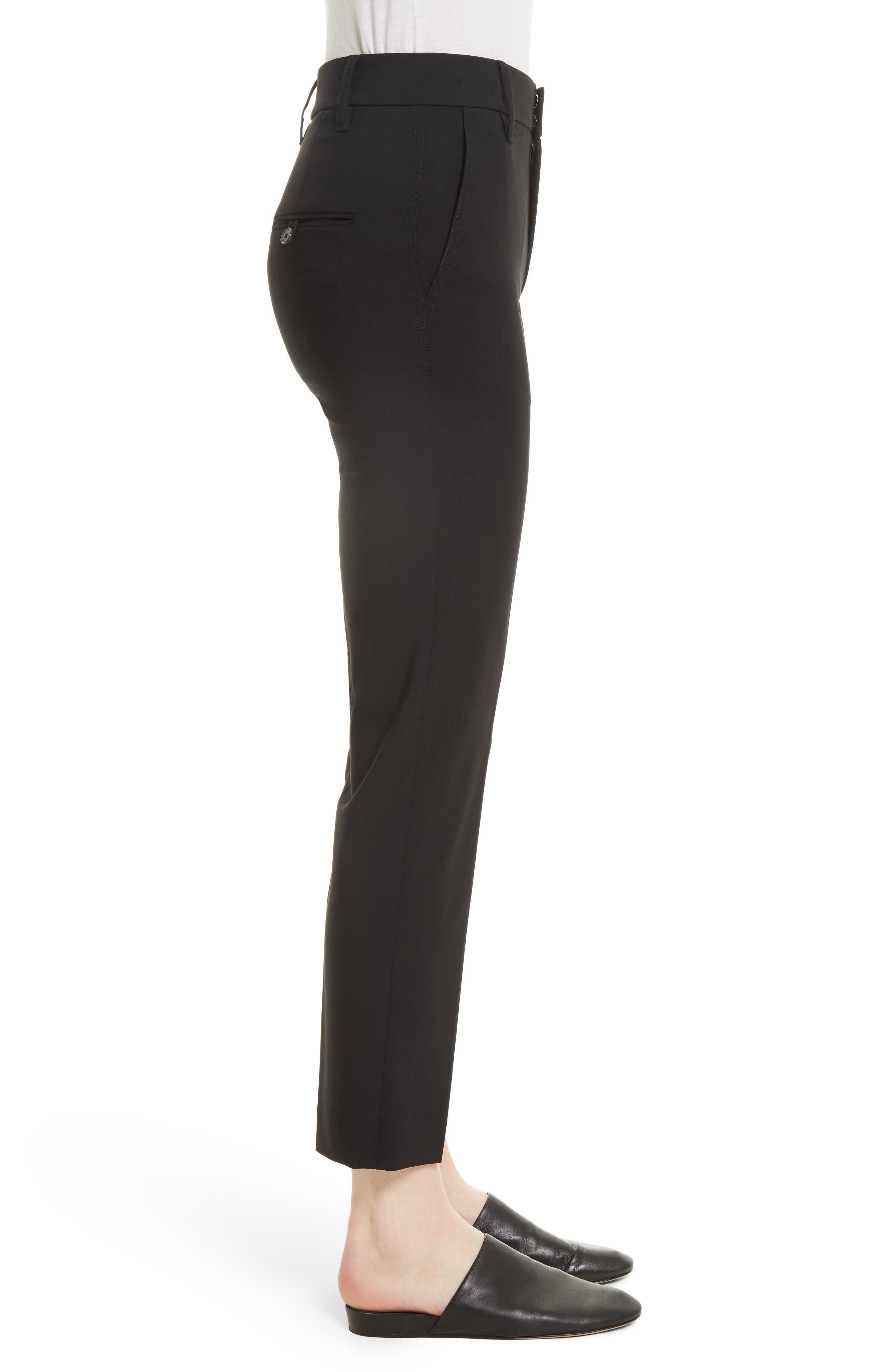 VINCE,                             Tapered Ankle Trousers,                             Alternate thumbnail 3, color,                             BLACK