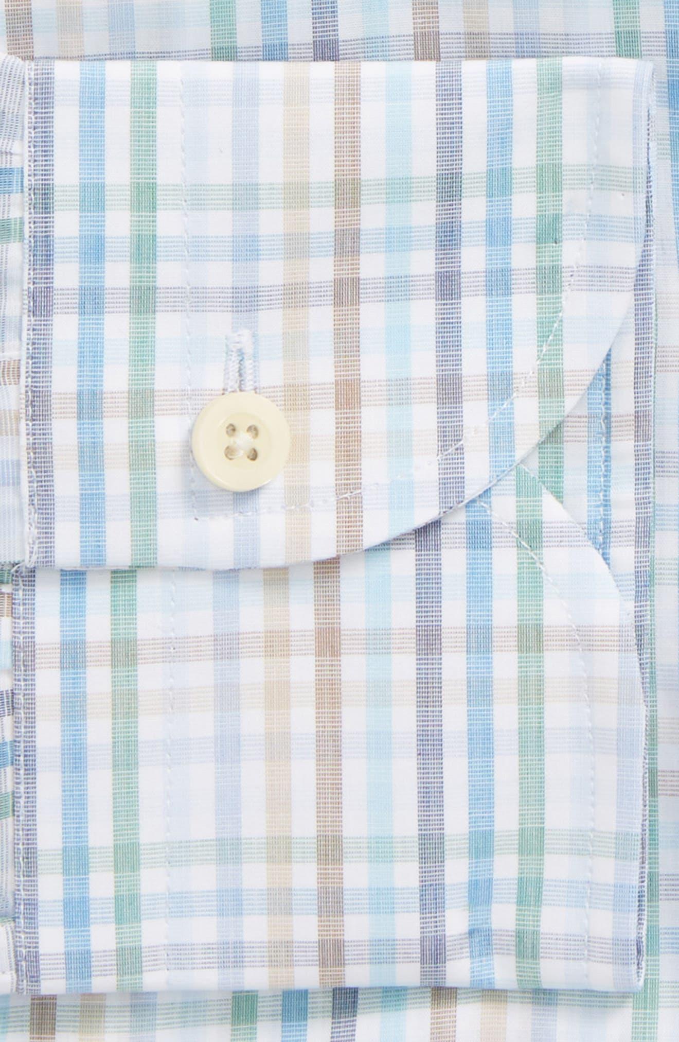Albright Slim Fit Check Dress Shirt,                             Alternate thumbnail 6, color,                             308