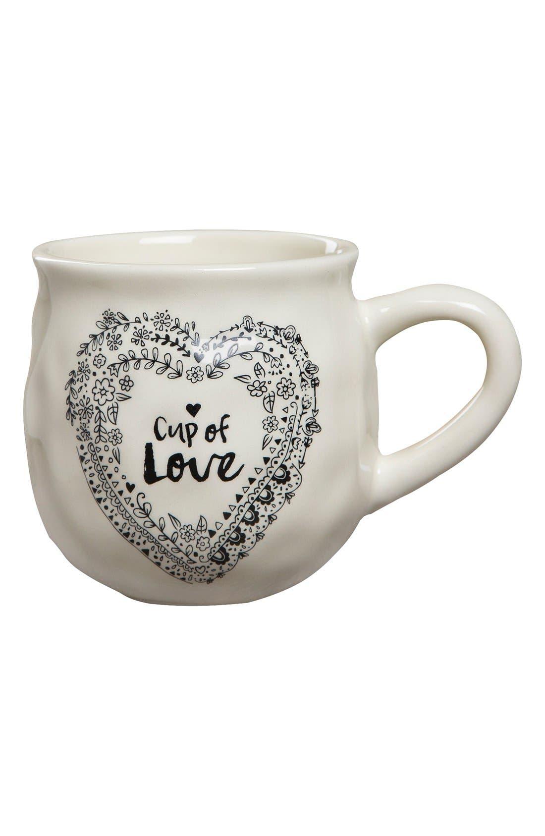 'Happy Mug - Cup of Love' Ceramic Mug,                             Main thumbnail 1, color,                             900