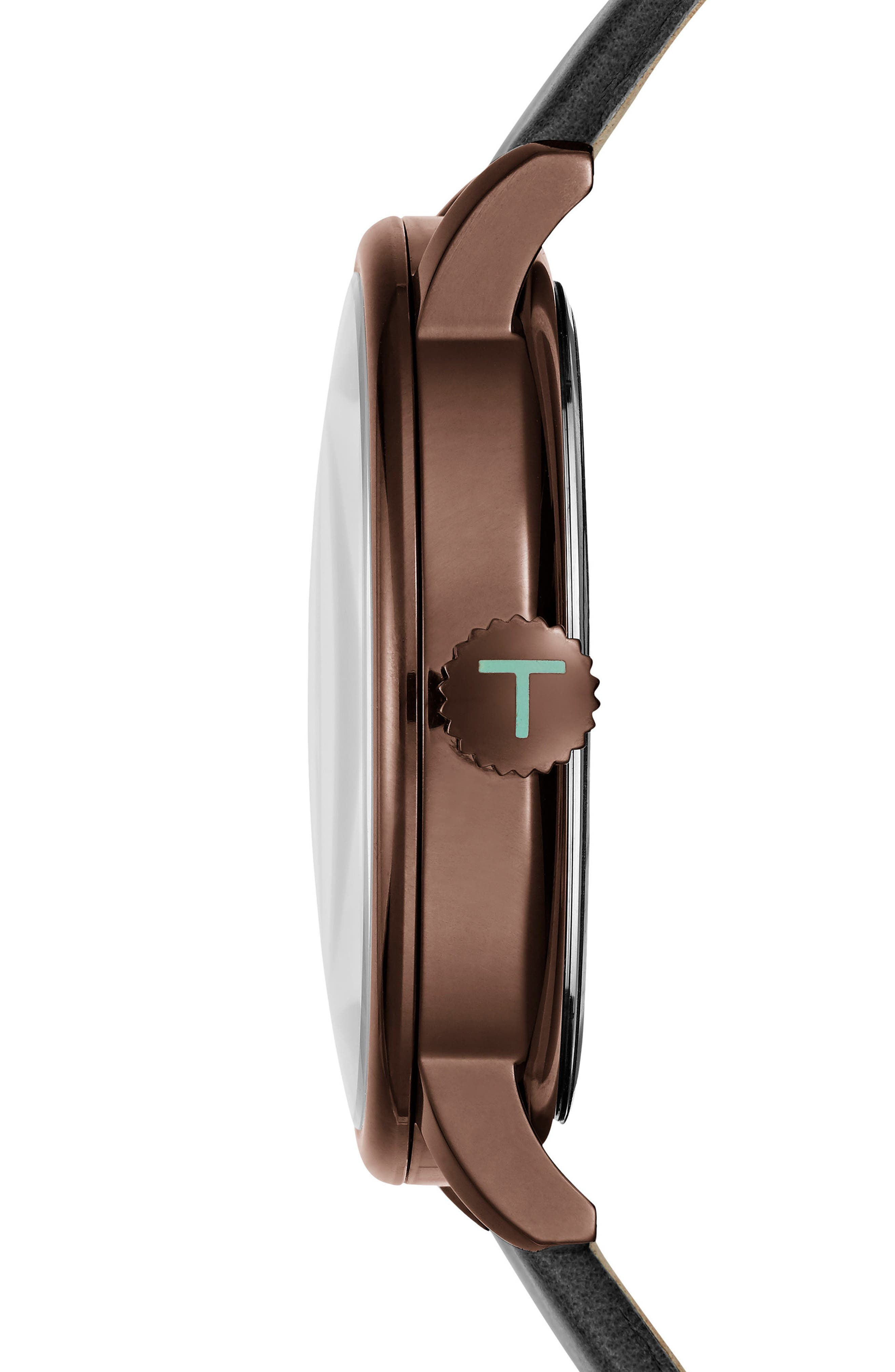 Thomas Leather Strap Watch, 41mm,                             Alternate thumbnail 3, color,                             001