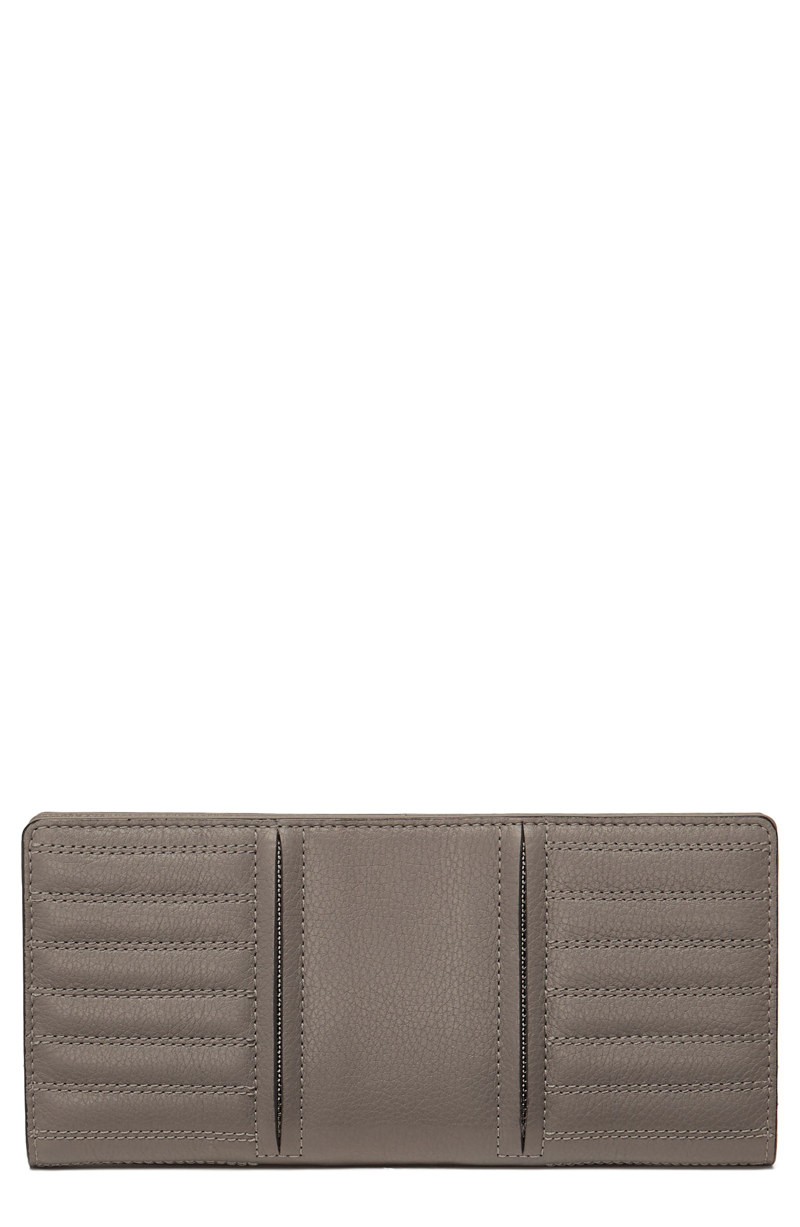 Moto Leather Continental Wallet,                             Main thumbnail 1, color,                             WINTER GREY