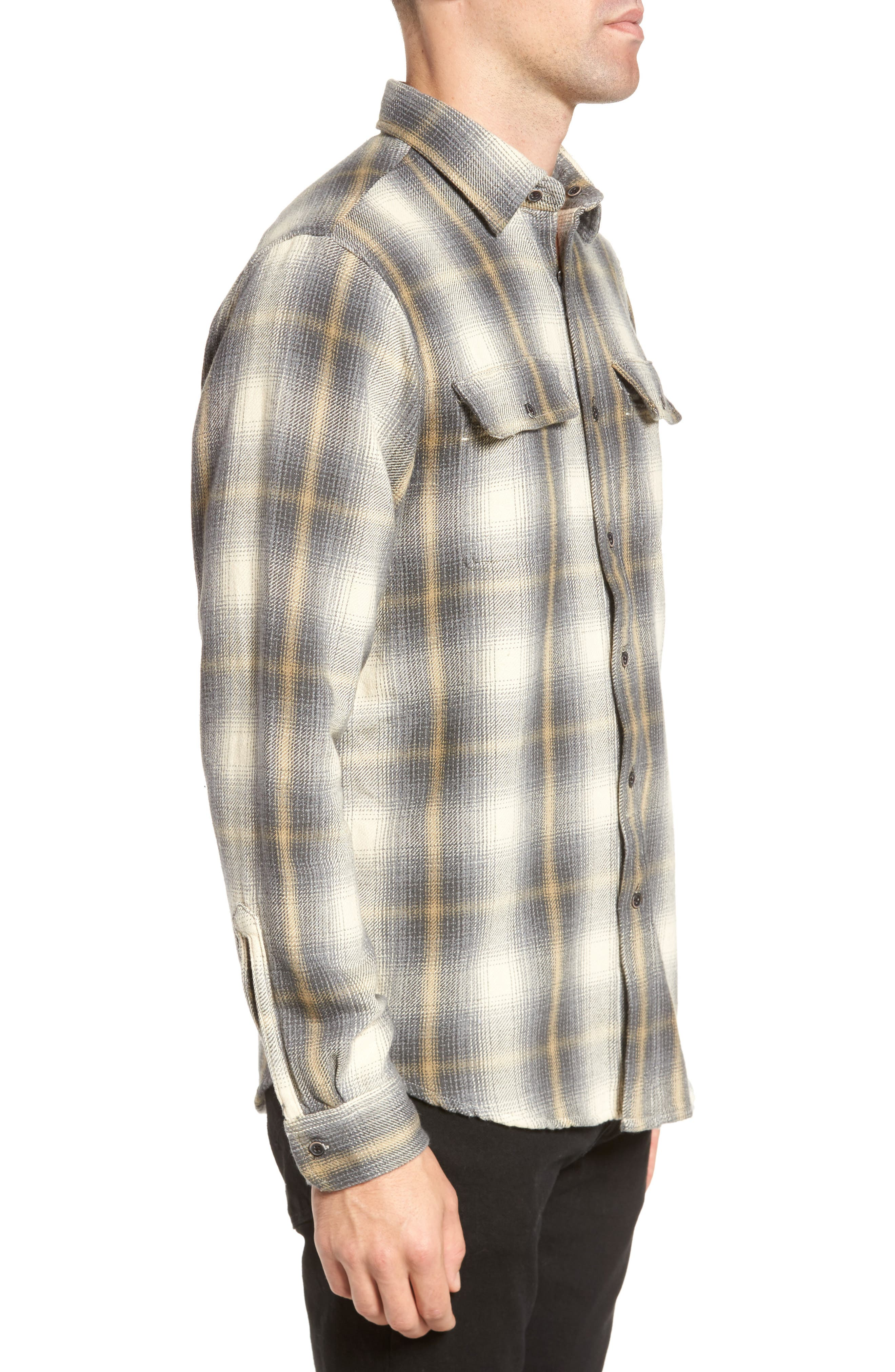 Heavy Twill Reversible Shirt Jacket,                             Alternate thumbnail 4, color,                             101