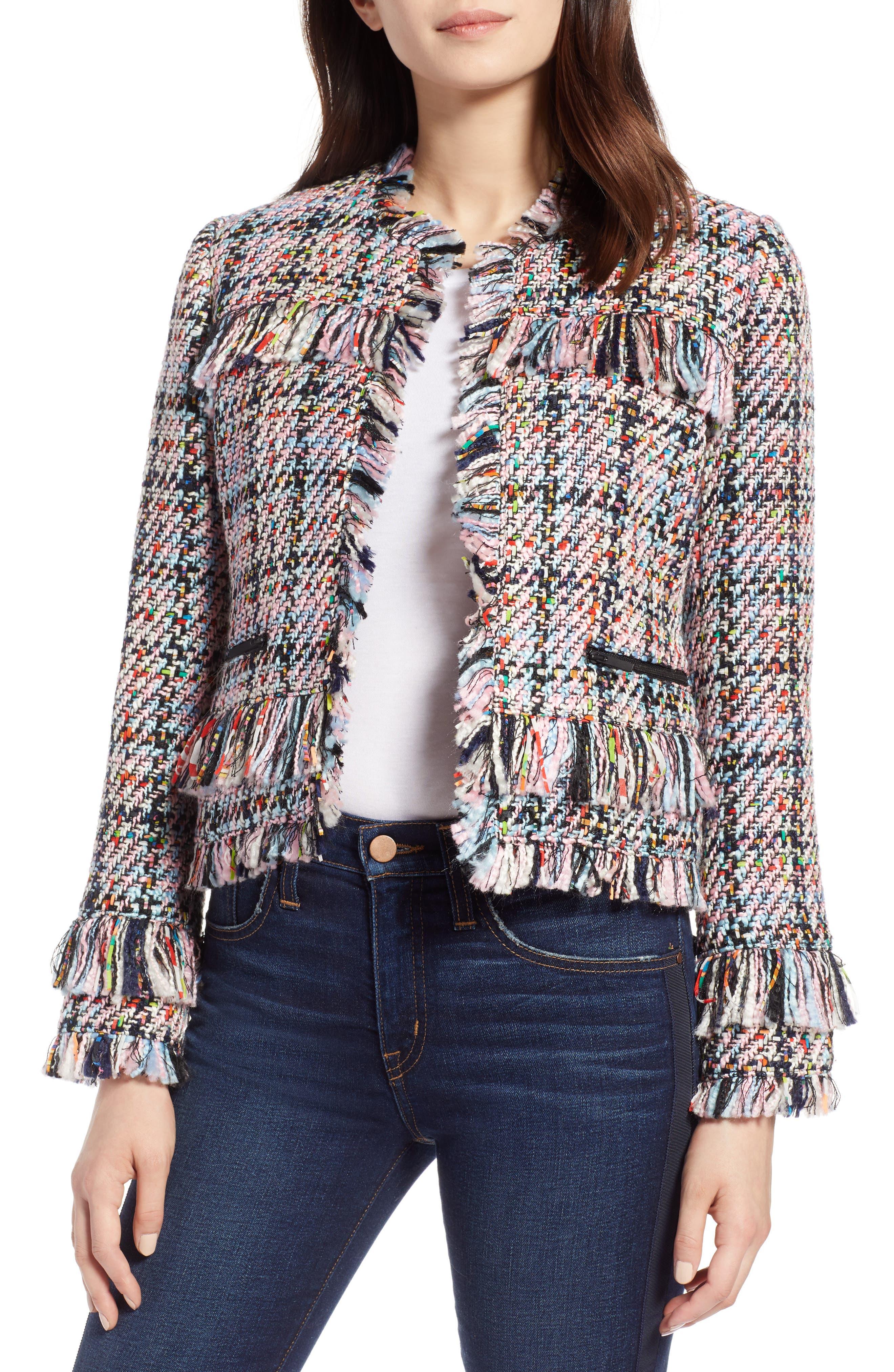 Raw Edge Tweed Jacket,                         Main,                         color, 680